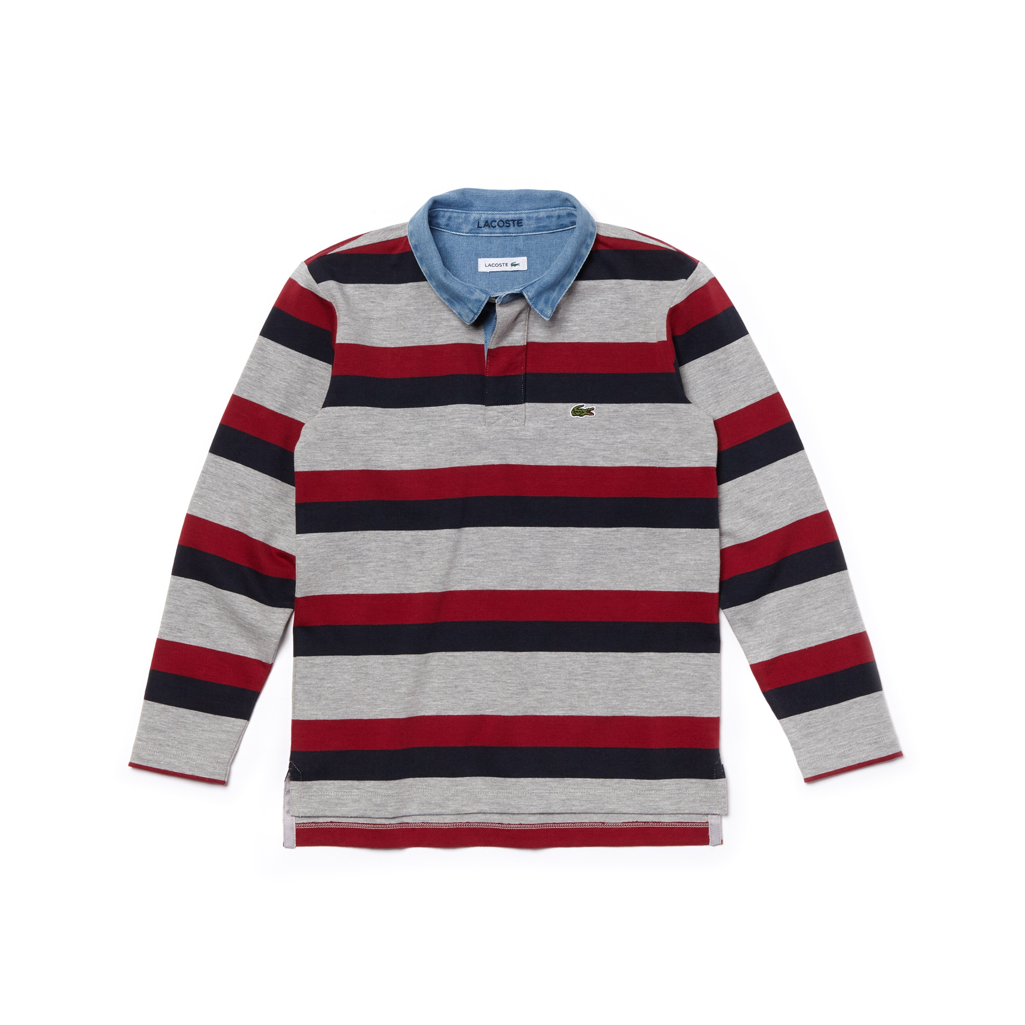 Boys' Striped Cotton Polo