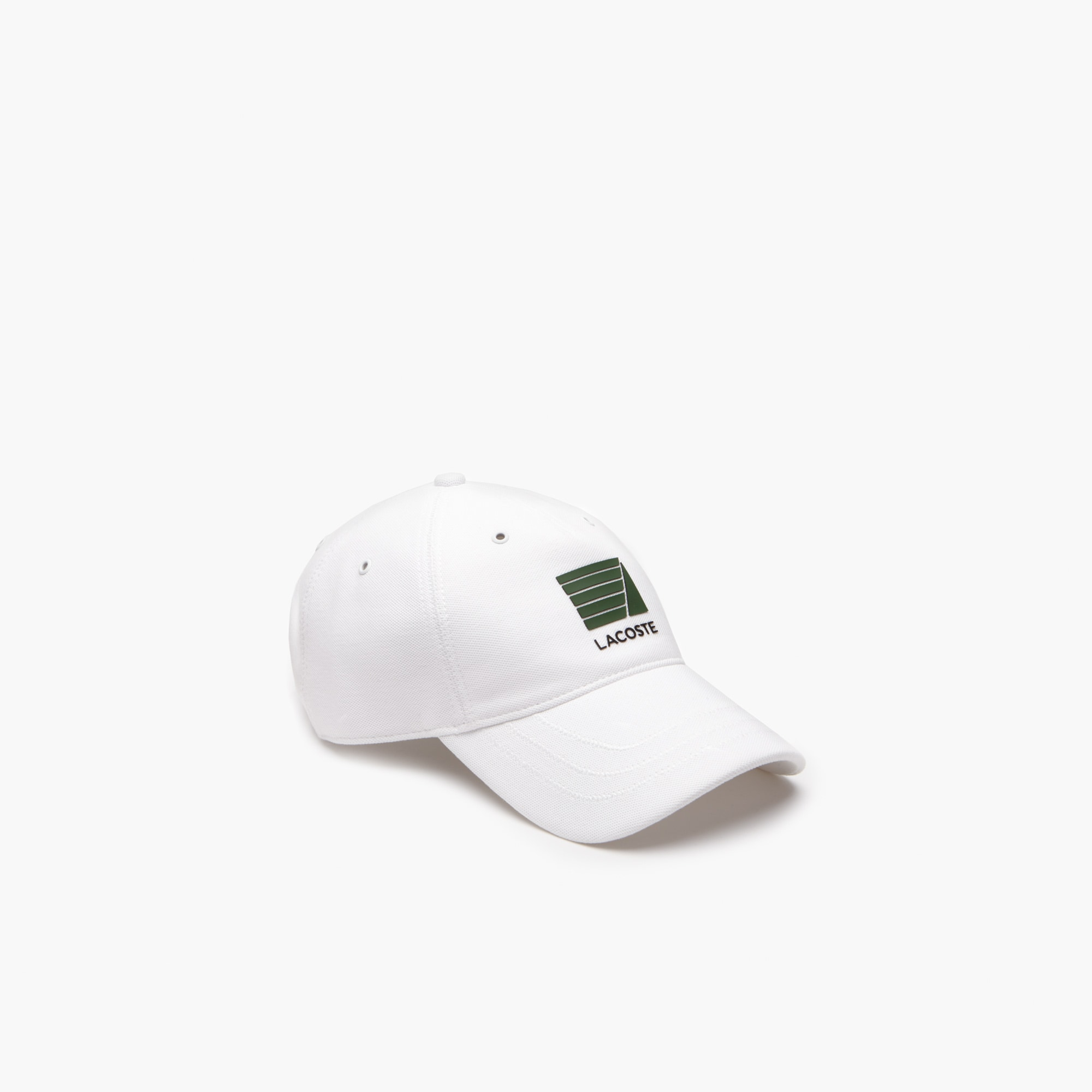 라코스테 Lacoste Mens Nautical Logo Cotton Cap,White