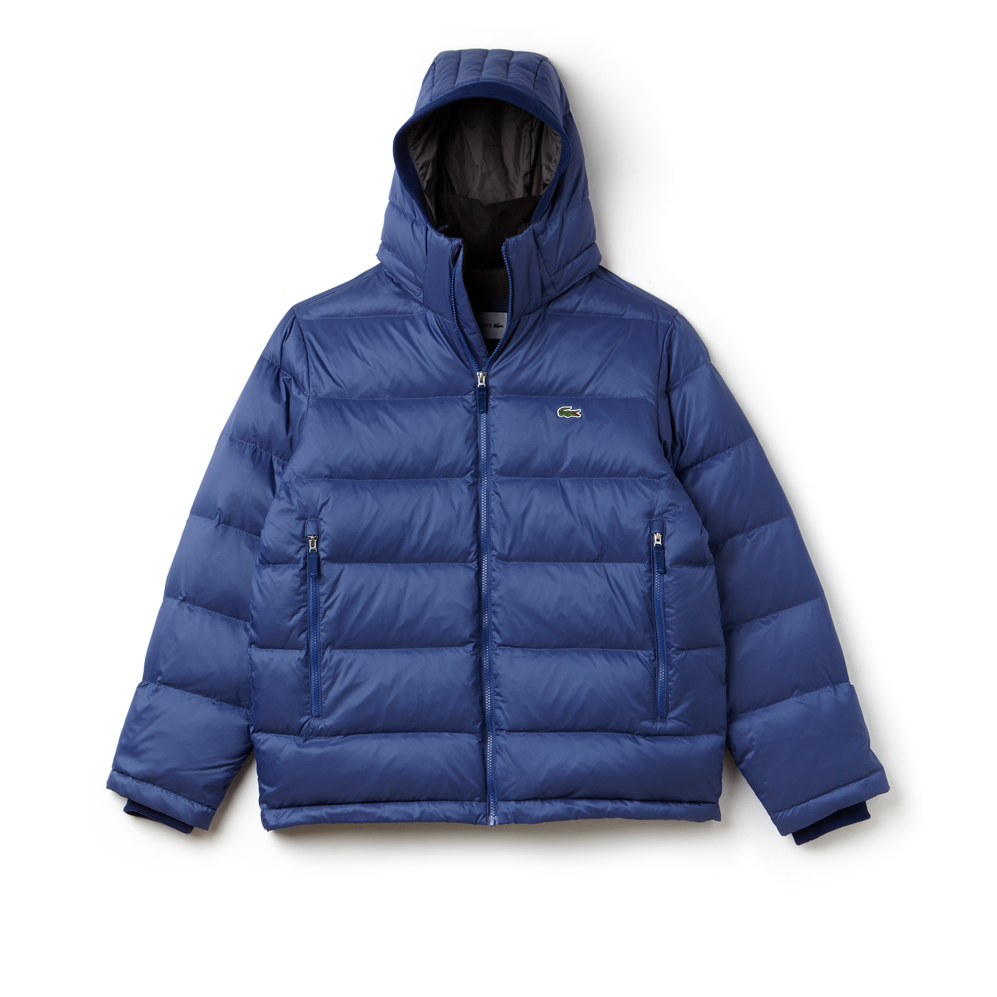 Men's Water-Resistant Quilted Hooded Short Puffy Down Jacket