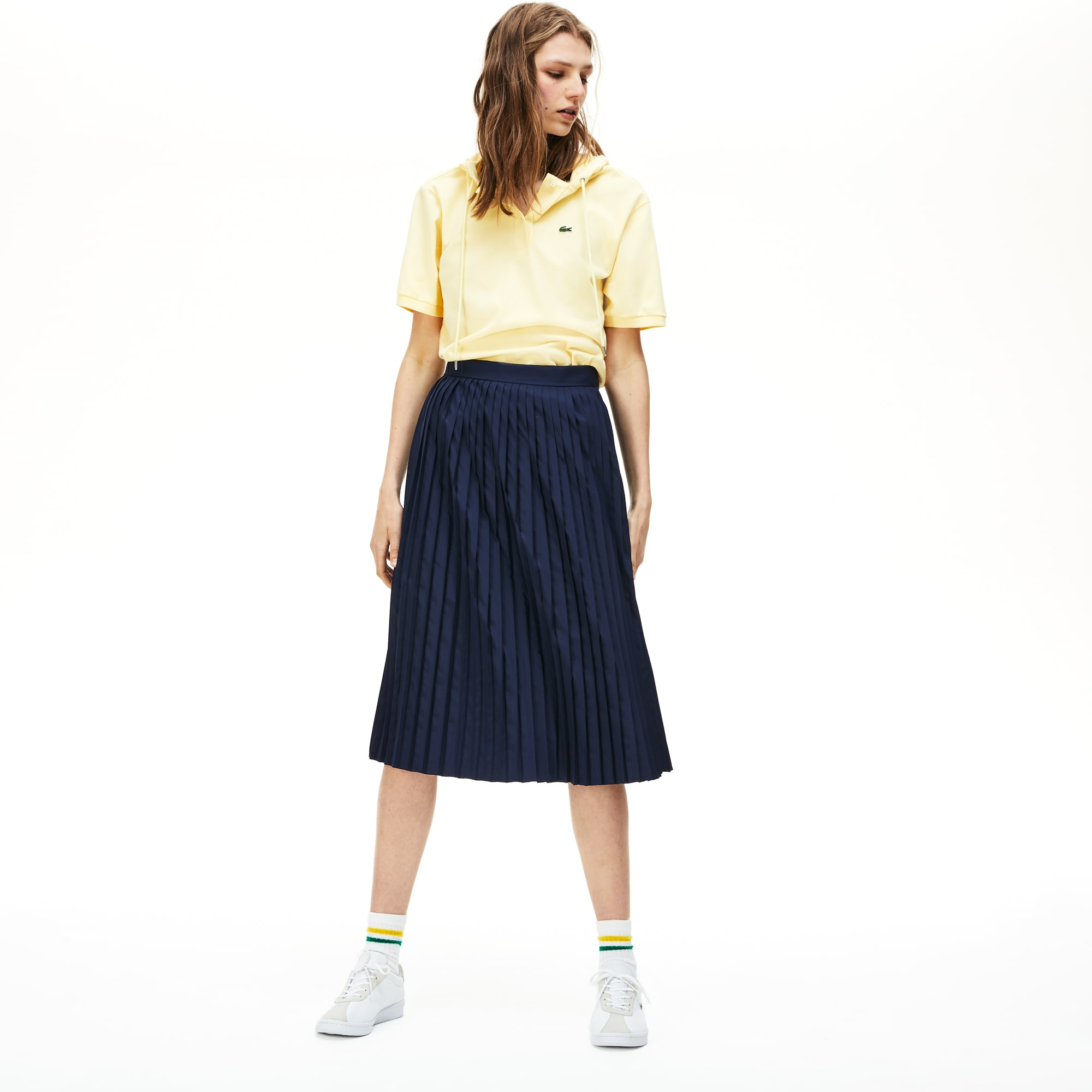 Lacoste Womens Mid-Length Pleated Skirt