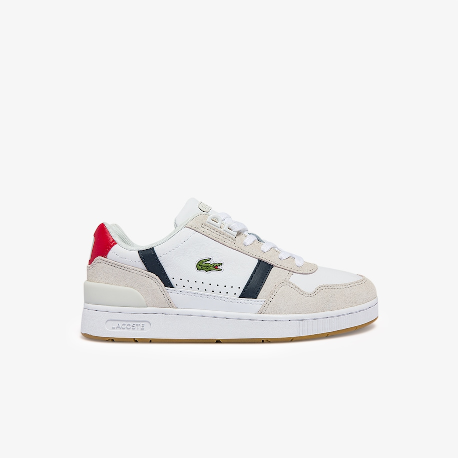 Women's T-Clip Tricolour Leather and Suede Trainers