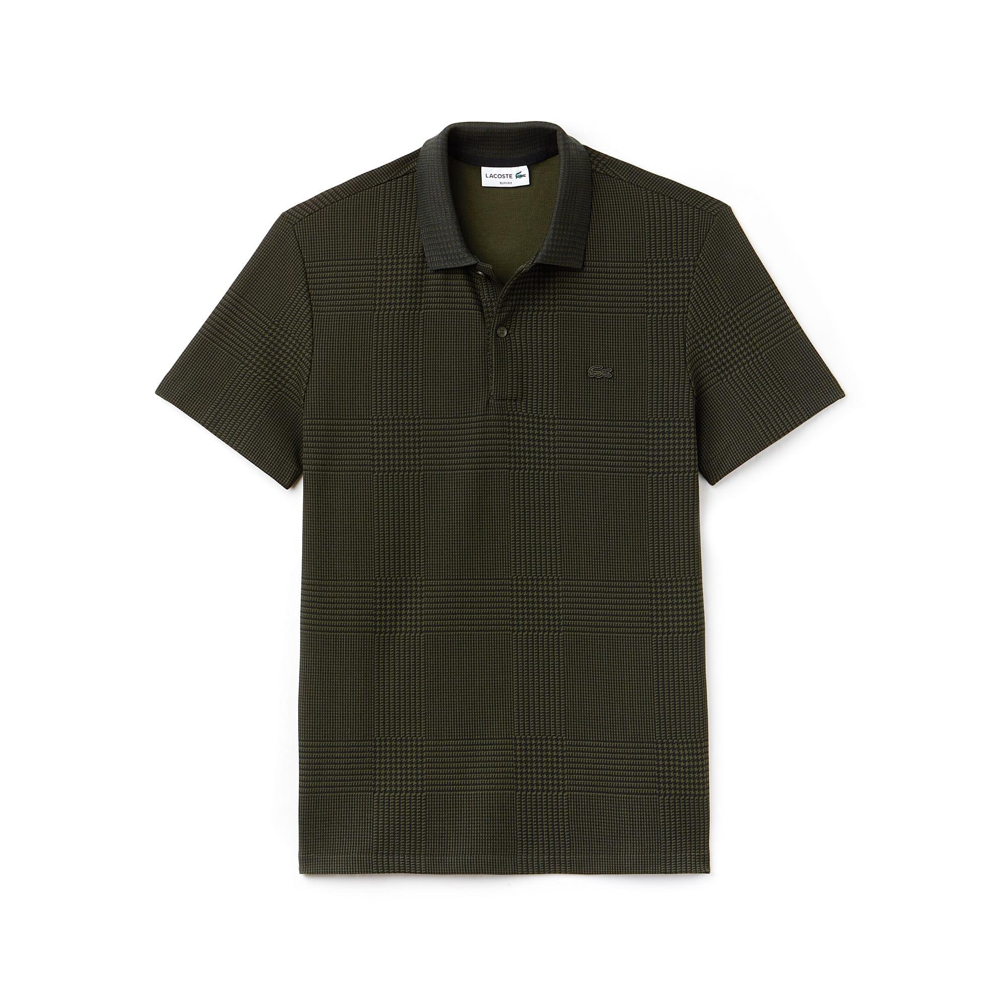 Men's  Slim Fit Bicolor Print Cotton Micro Piqué Polo