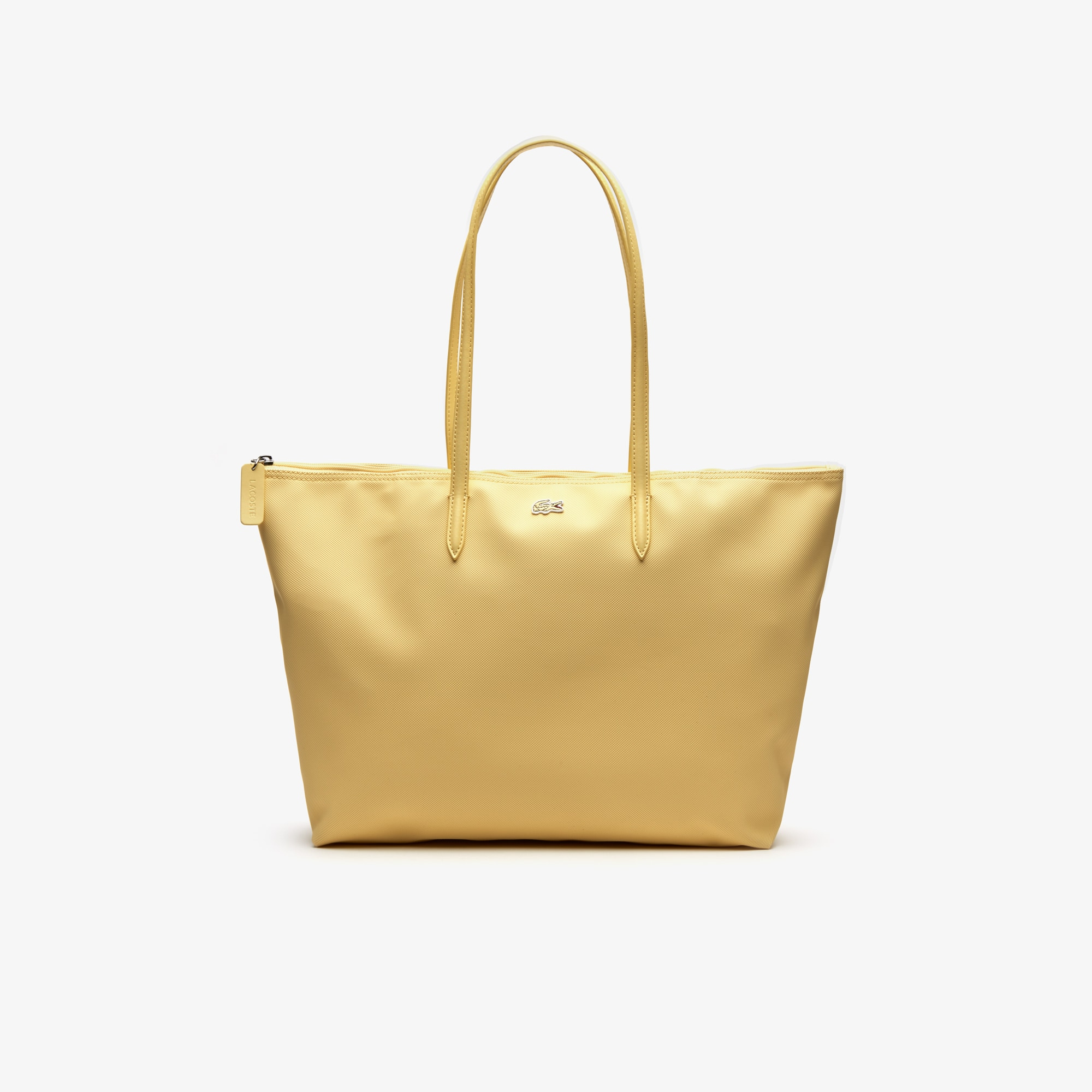 라코스테 Lacoste Womens L.12.12 Concept Zip Tote Bag,pale banana