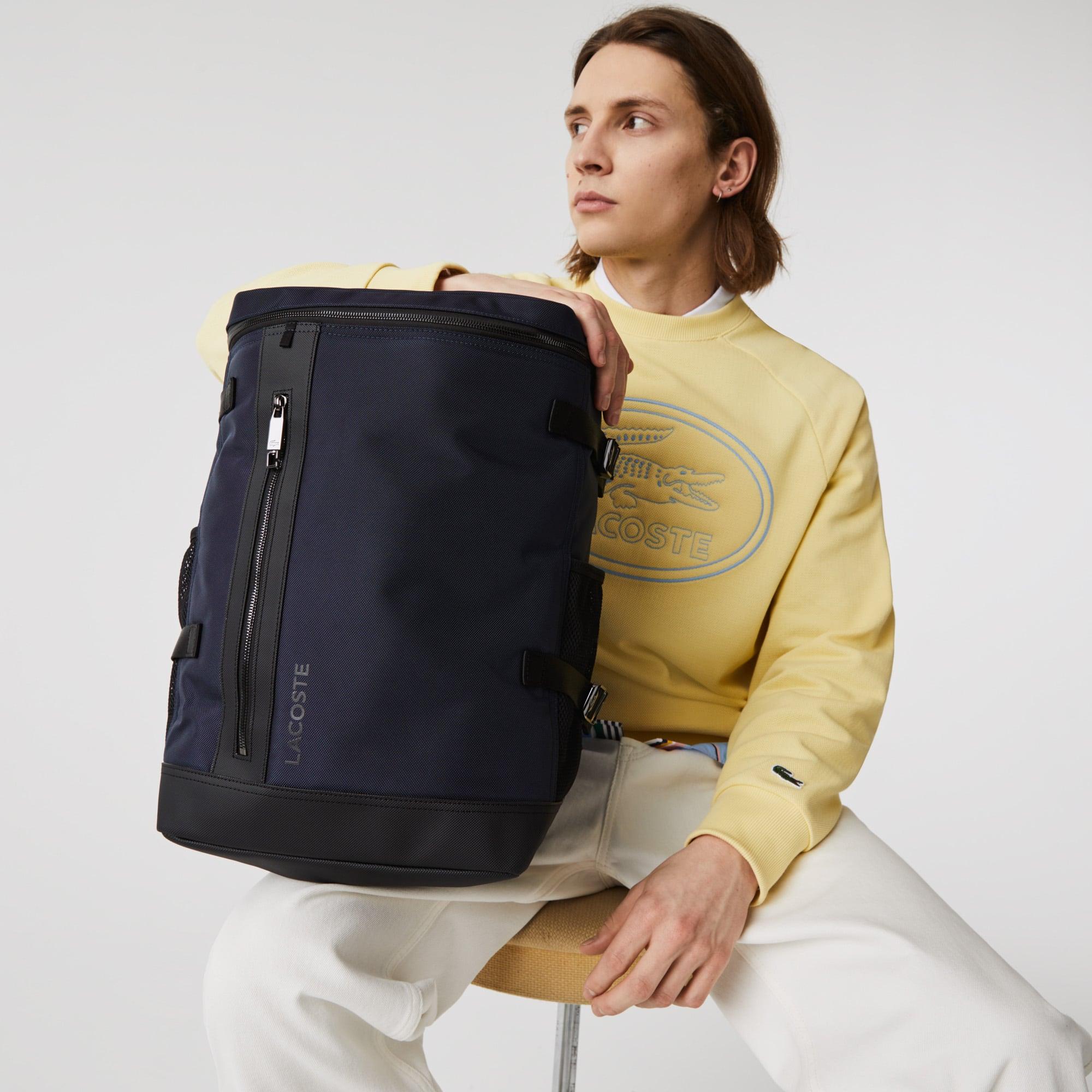 라코스테 Lacoste Men's L On The Go Round Backpack,ECLIPSE NOIR 368