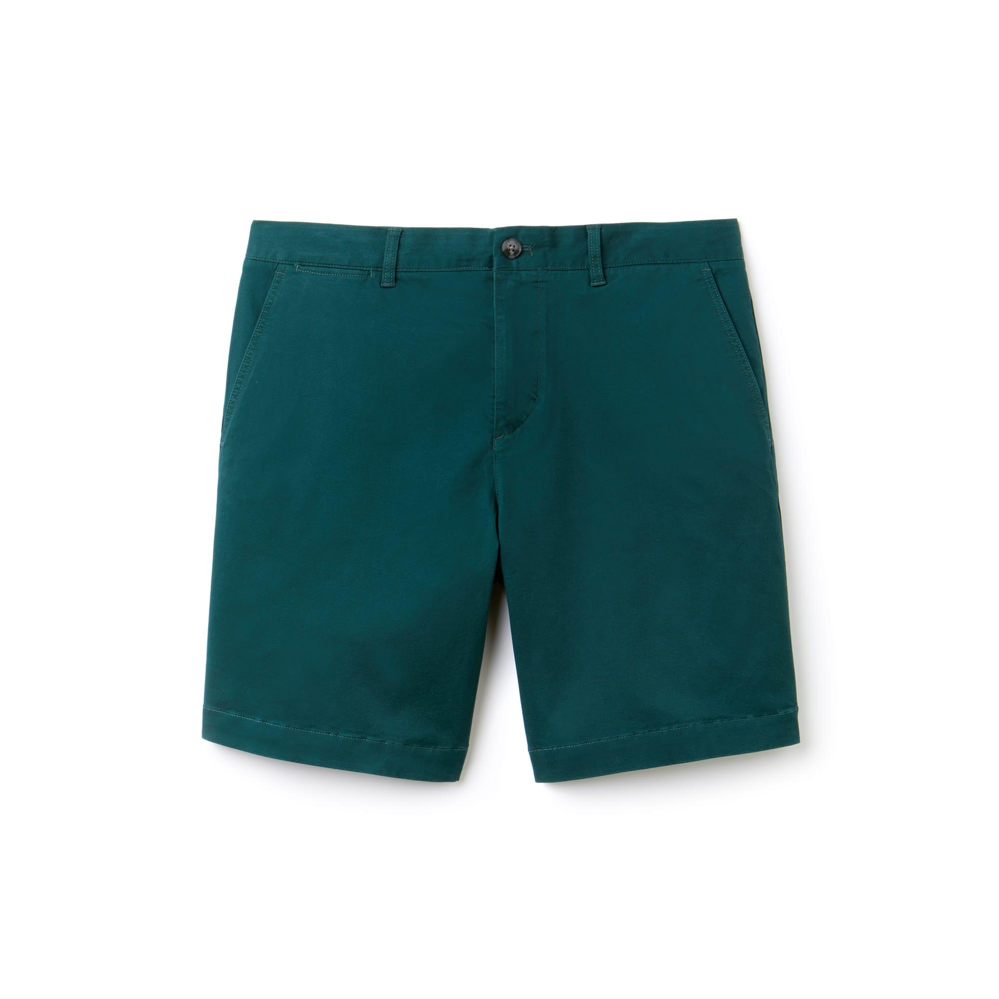 라코스테 Lacoste Mens Regular Fit Cotton Gabardine Bermuda Shorts,green