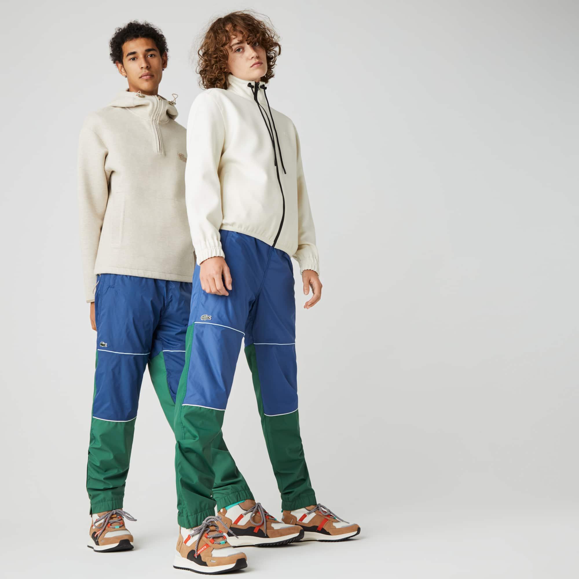 라코스테 남녀공용 라이브 트랙수트 팬츠 Lacoste Unisex LIVE Colorblock Tracksuit Pants,Green / Blue E1Z