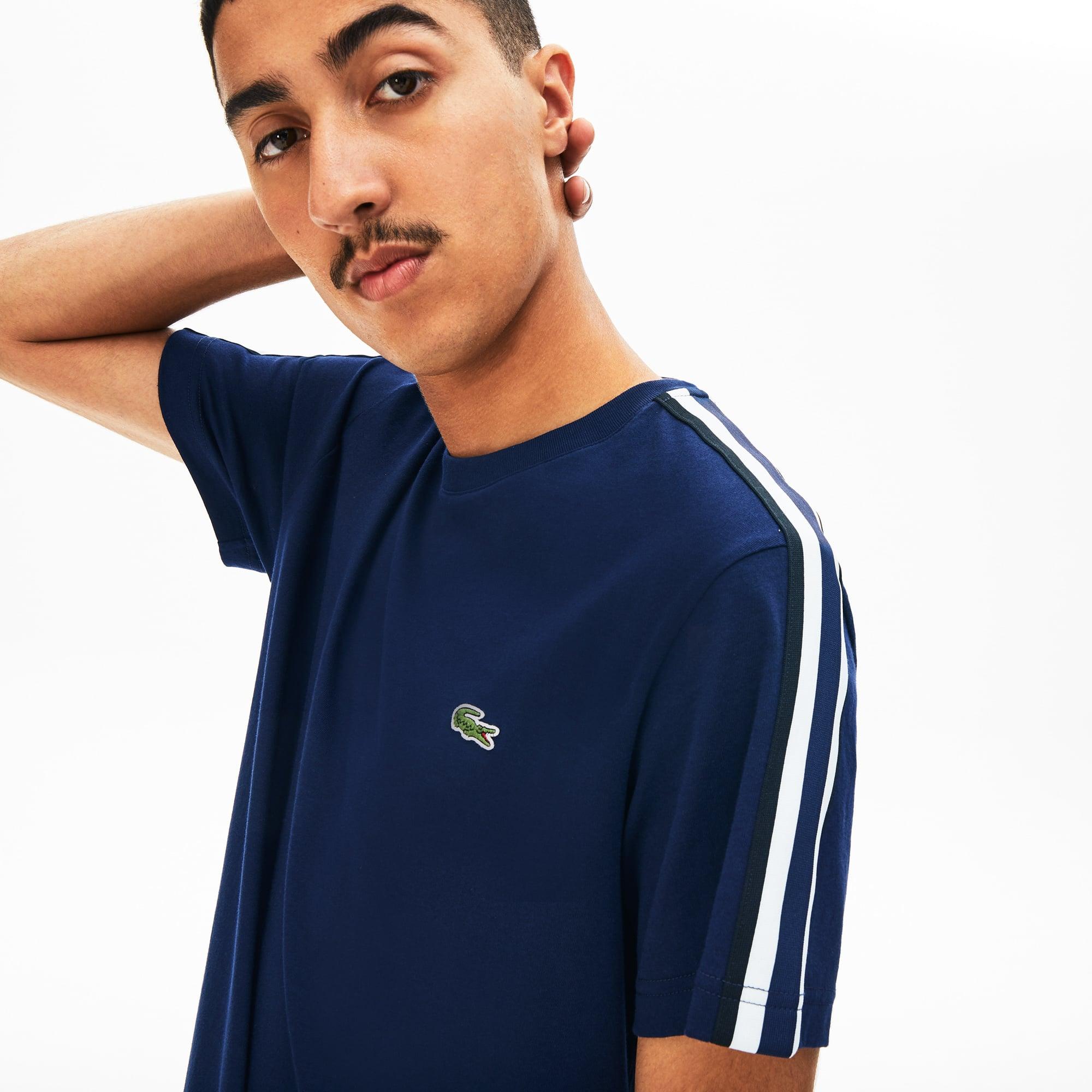 Lacoste Tops Men's Stripe Sleeved Jersey T-Shirt
