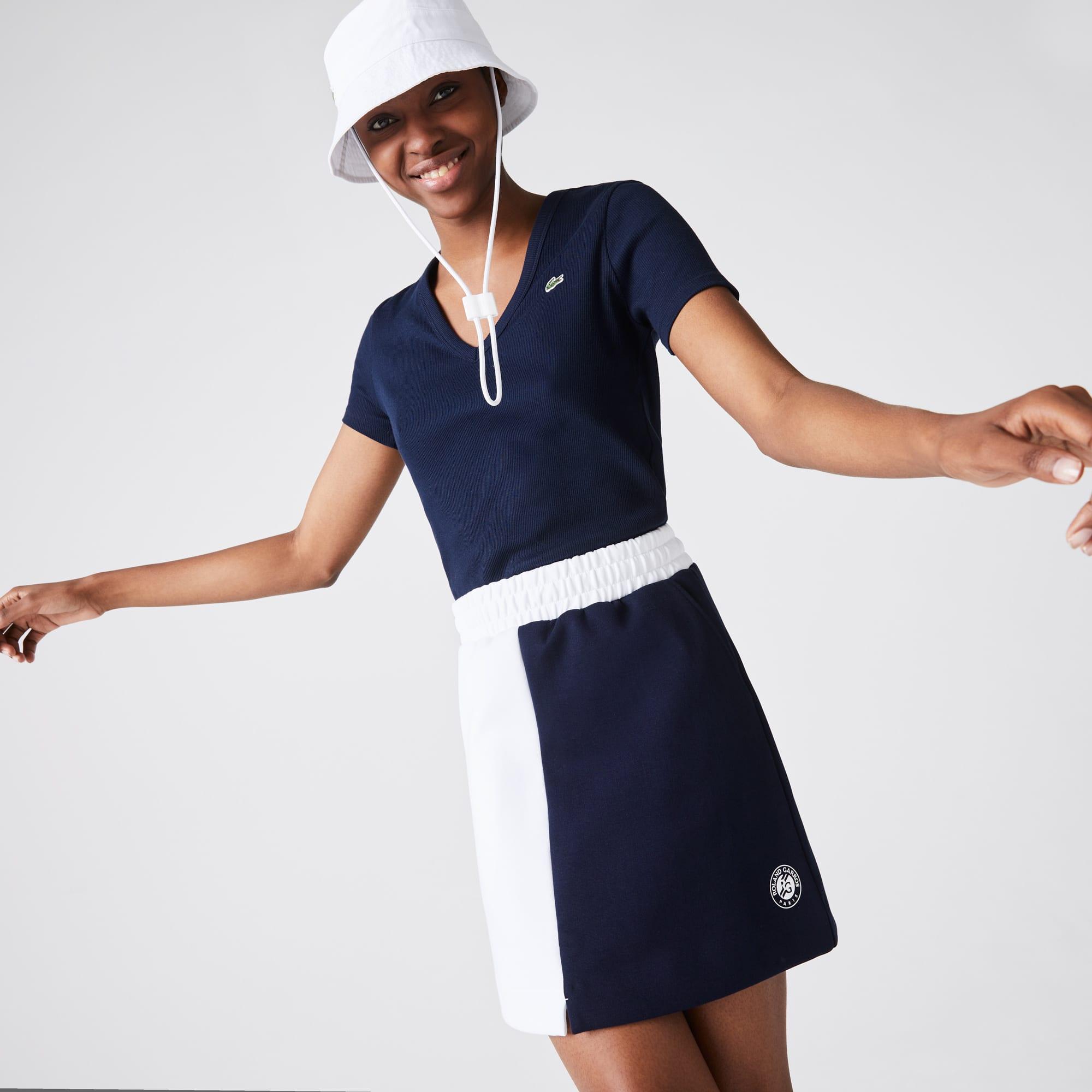 라코스테 스포츠 롤랑가로스 컬러블록 스커트 Lacoste Womens SPORT Roland Garros Color-Block Skirt