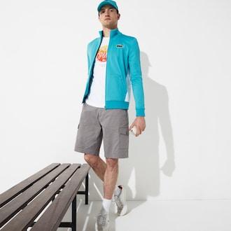 라코스테 Lacoste Mens SPORT Miami Open Edition Jacket,Turquoise / White - GPY