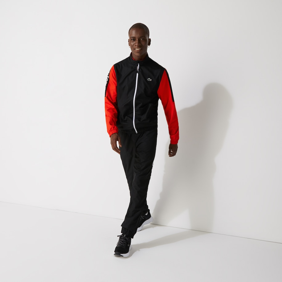 Men's SPORT Stand-up Neck Colorblock Tracksuit