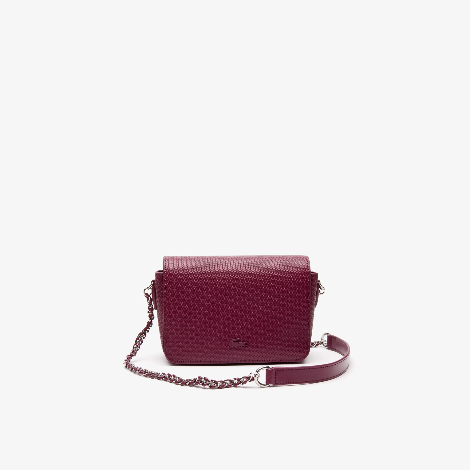 Lacoste Women's Chantaco Leather Flap Bag with Chain Strap