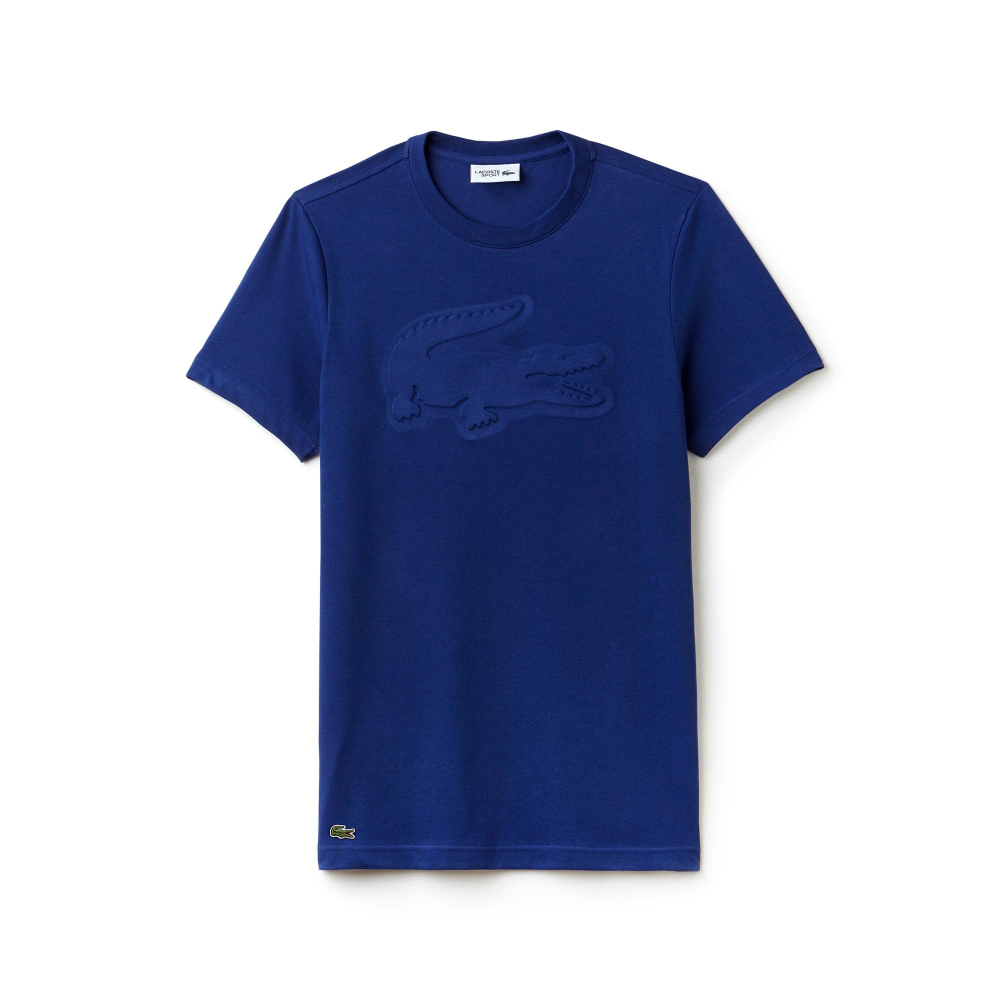 라코스테 스포츠 반팔 티셔츠 Lacoste Mens SPORT Tennis Oversize Croc Technical Jersey T-shirt,VARSITY BLUE