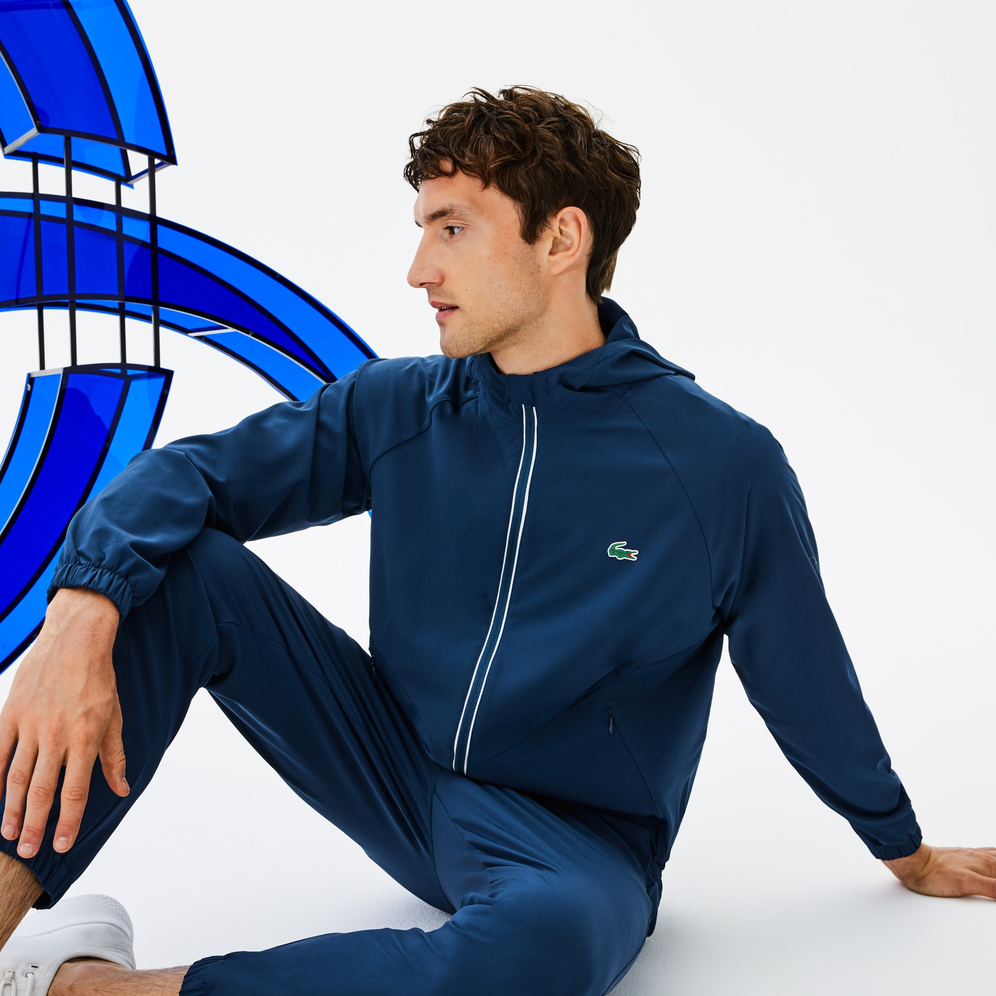 Men's SPORT Hooded Technical Midlayer Jacket -  x Novak Djokovic Off Court Premium Edition
