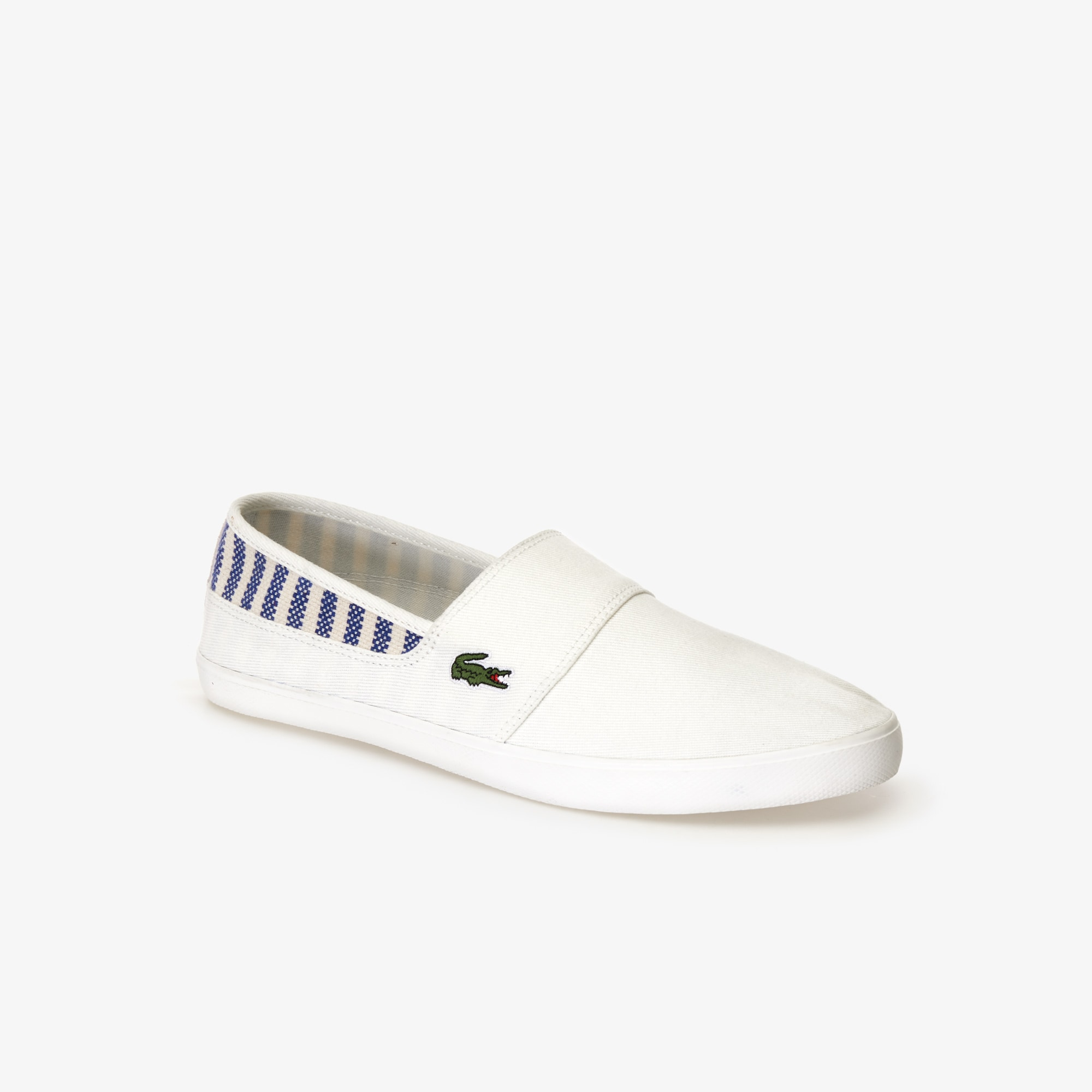 Lacoste Lingerie Men's Marice Canvas Slip-ons with Green Croc