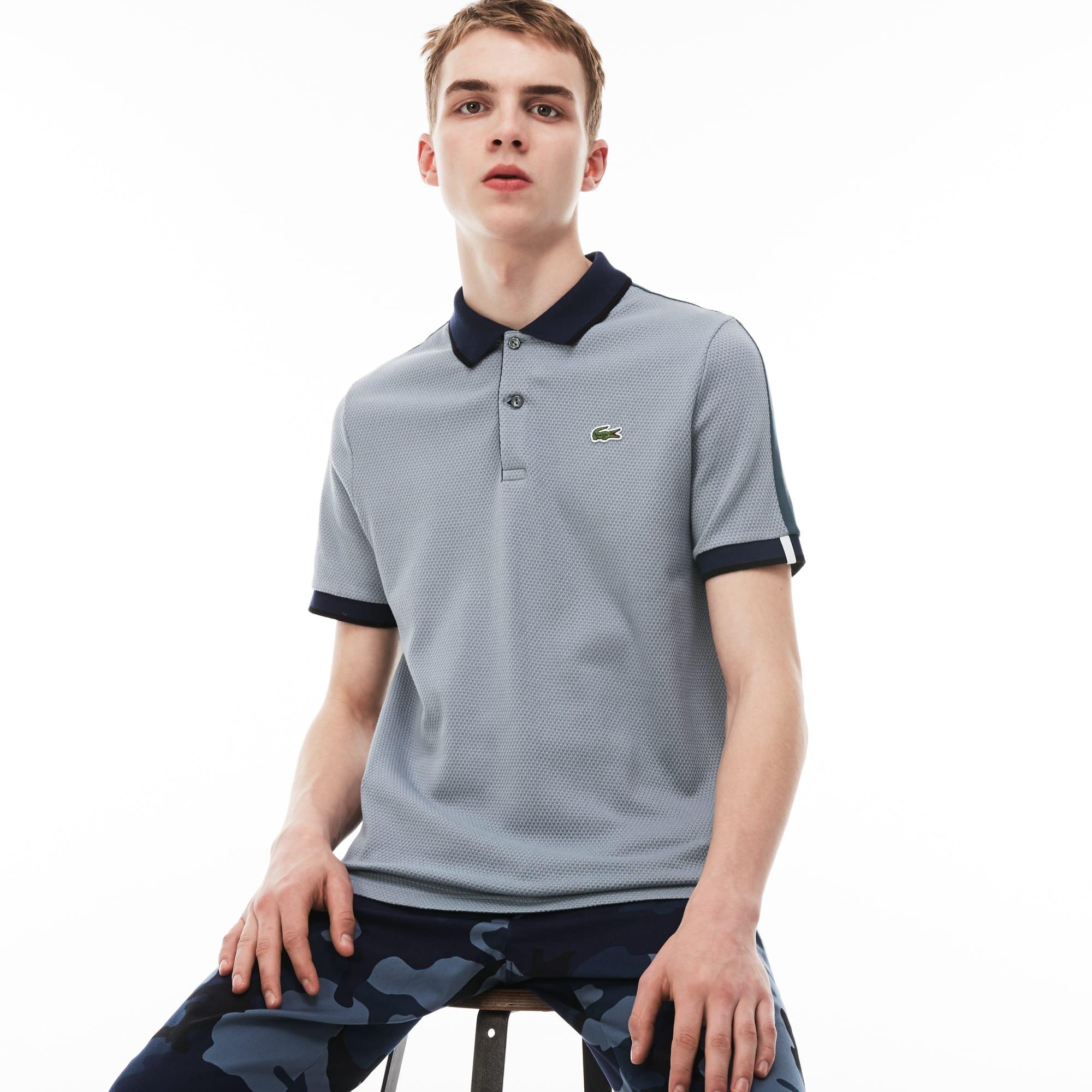Men's LIVE Slim Fit Colorblock Cotton Knit Polo