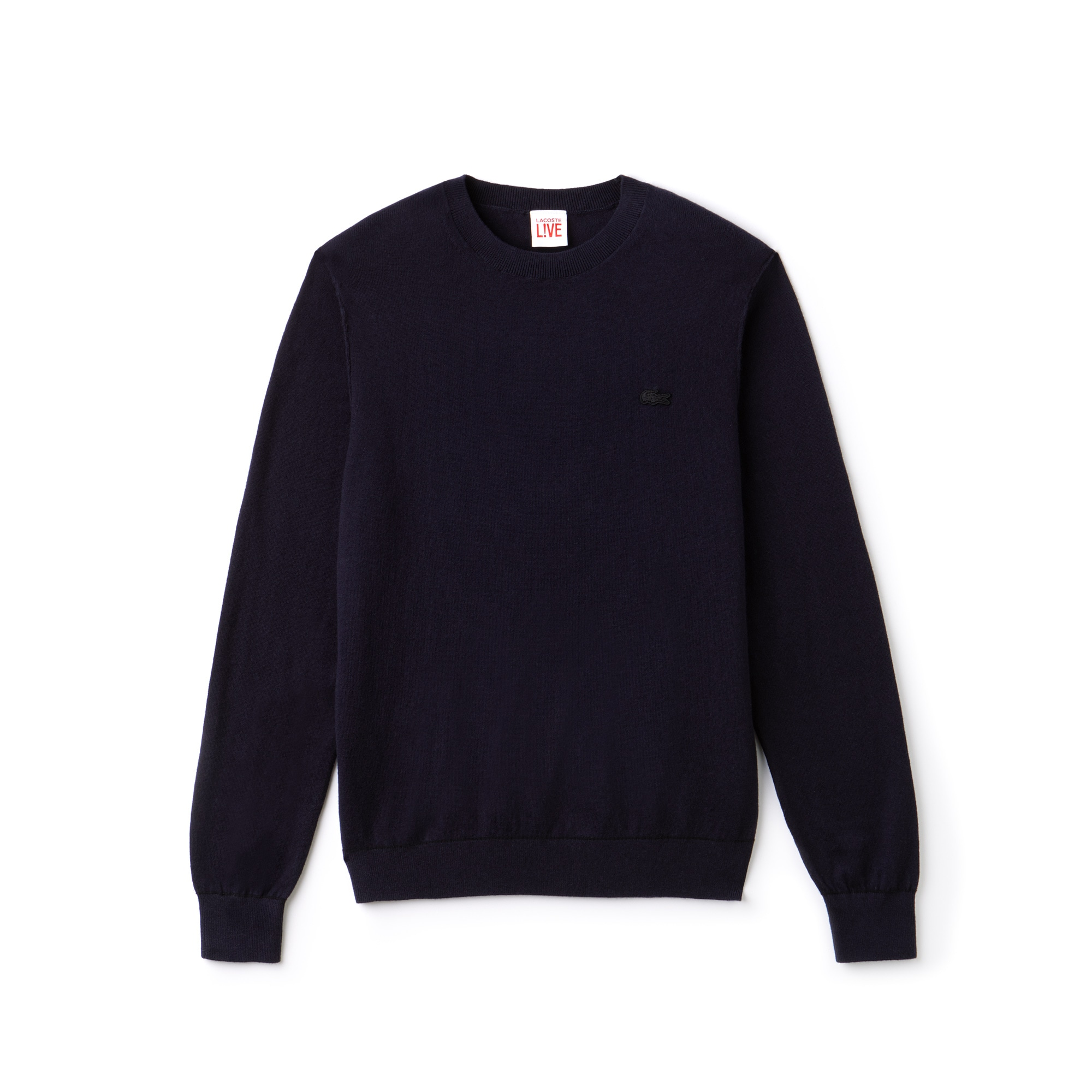 Men's LIVE Crew Neck Cotton And Cashmere Jersey Sweater