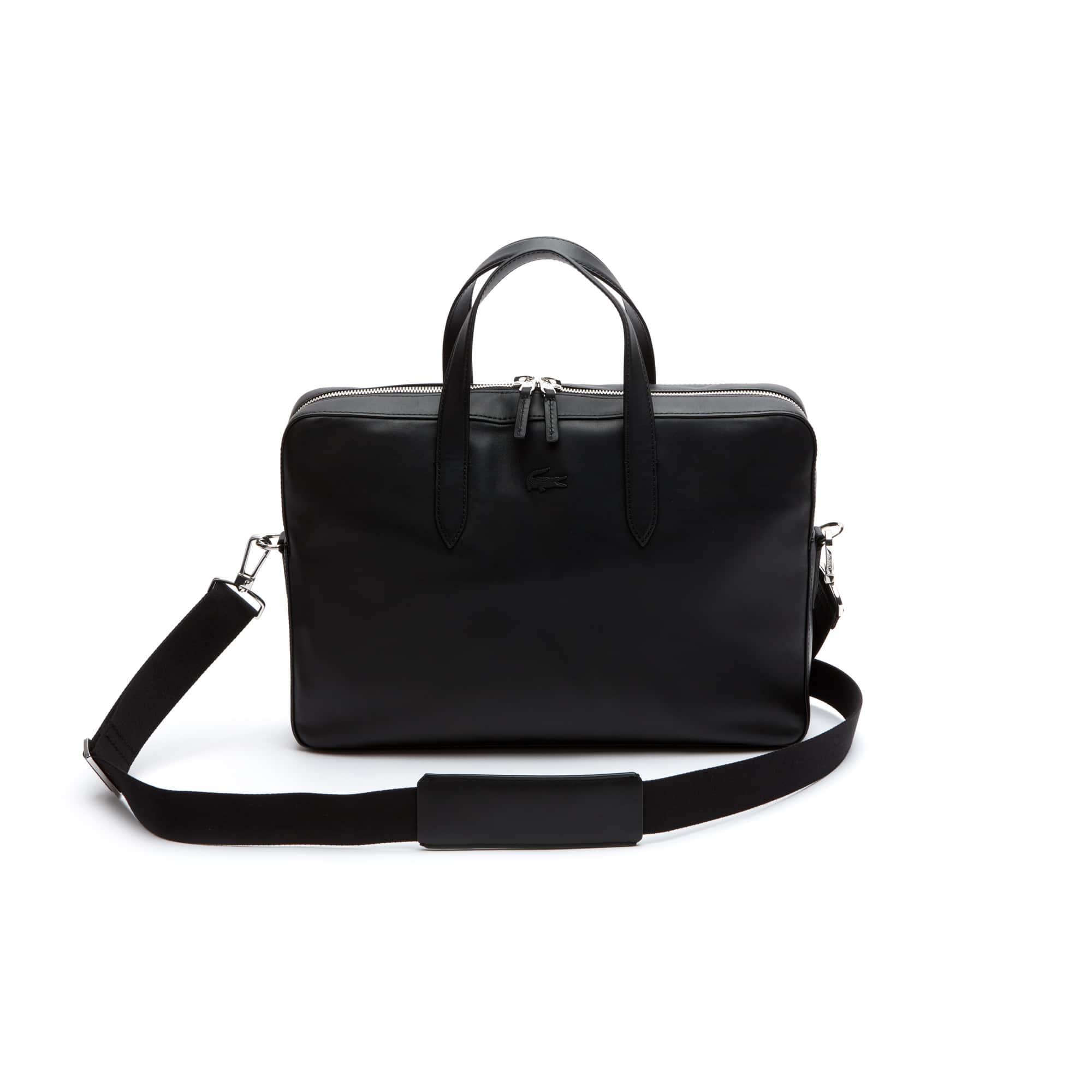 라코스테 비즈니스 노트북 가방 Lacoste Mens L.12.12 Business Leather Computer Bag,black