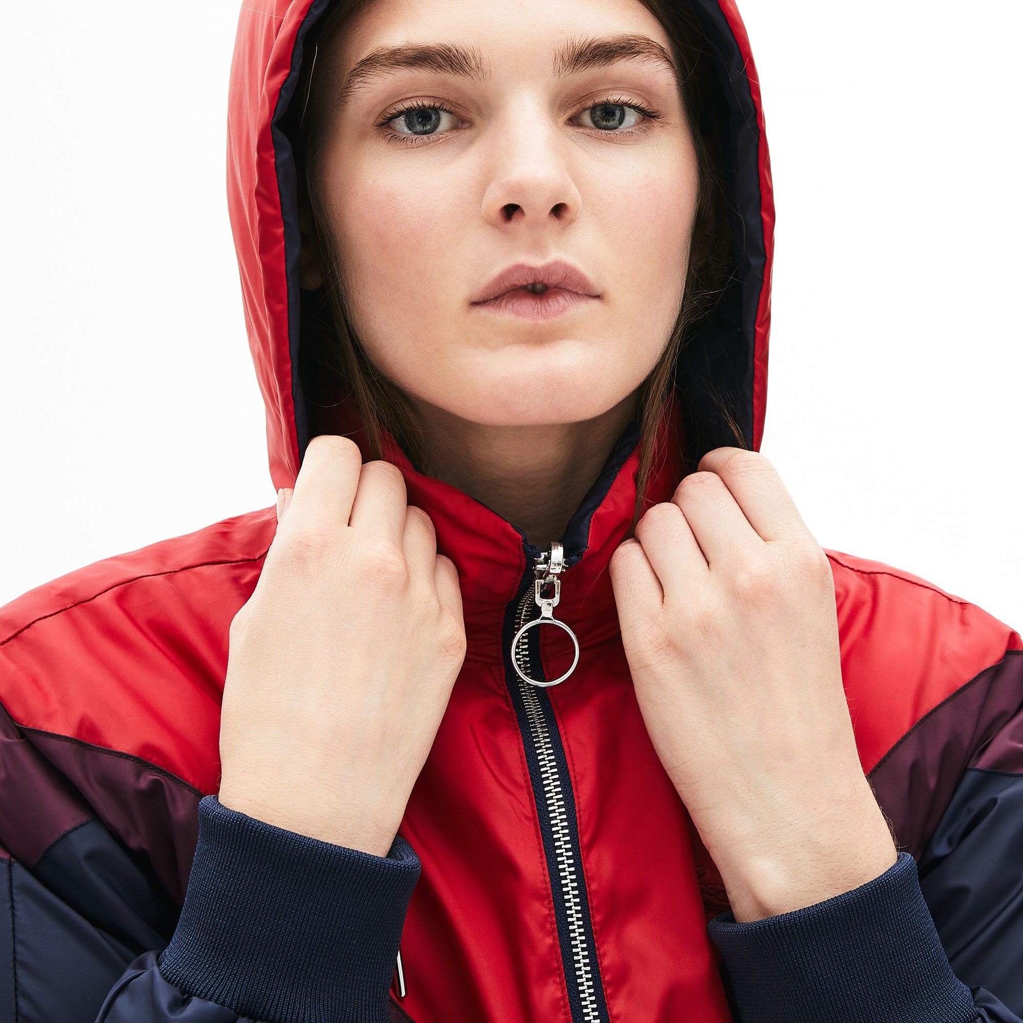 Women's Reversible Color-Blocked Water-Resistant Long Quilted Coat