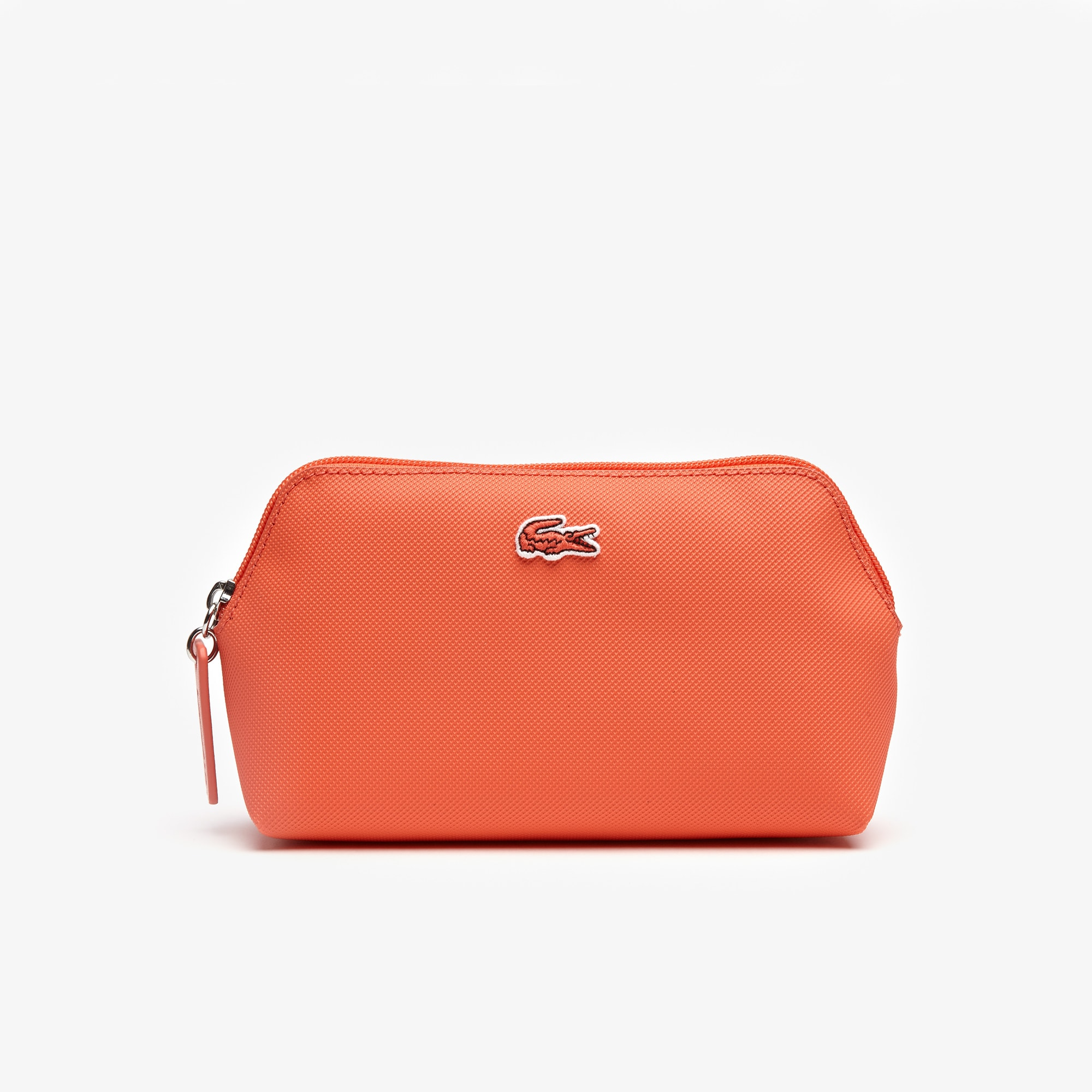 라코스테 Lacoste Womens L.12.12 Concept Petit Pique Makeup Bag,coral