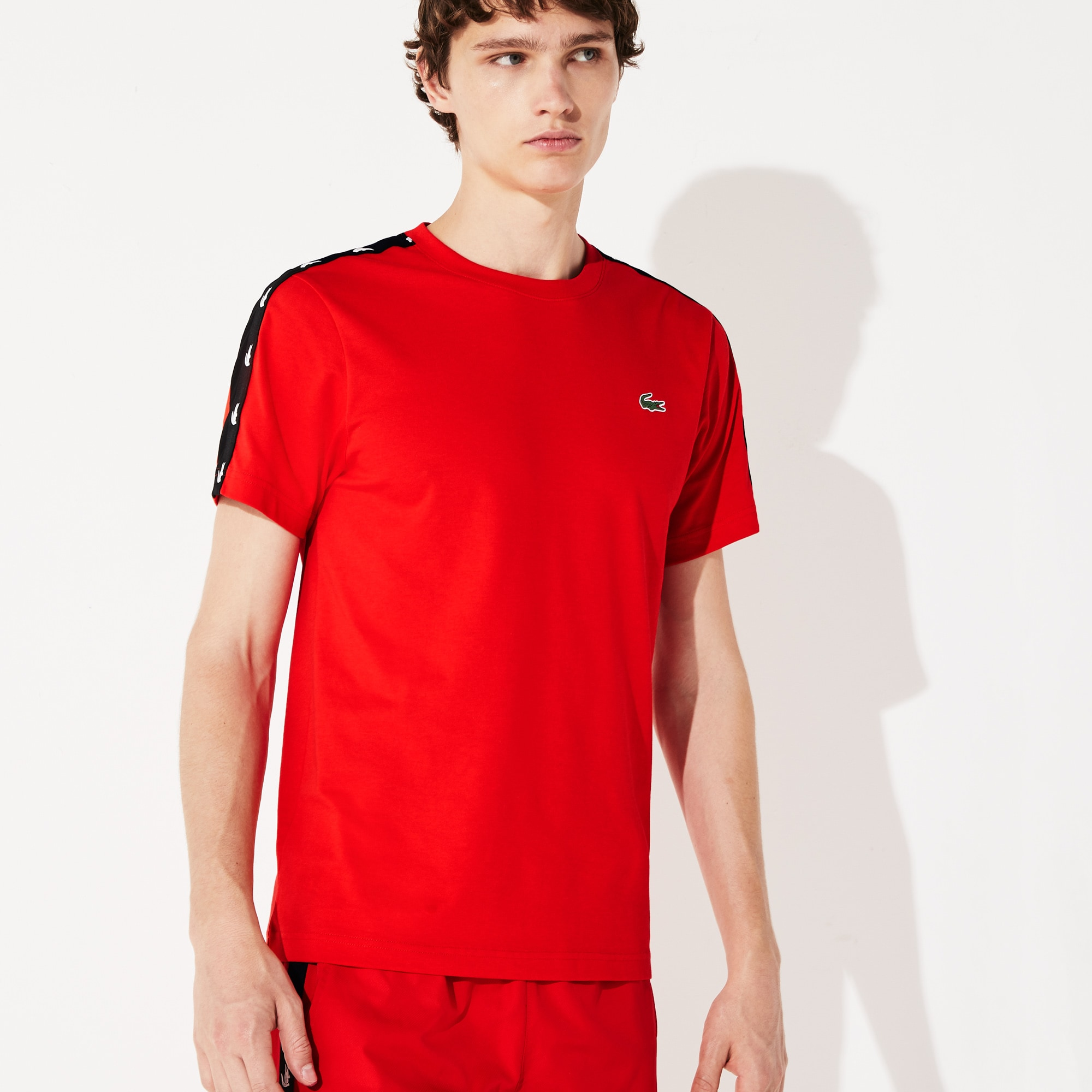 Men's SPORT Crocodile-Stripe T-Shirt