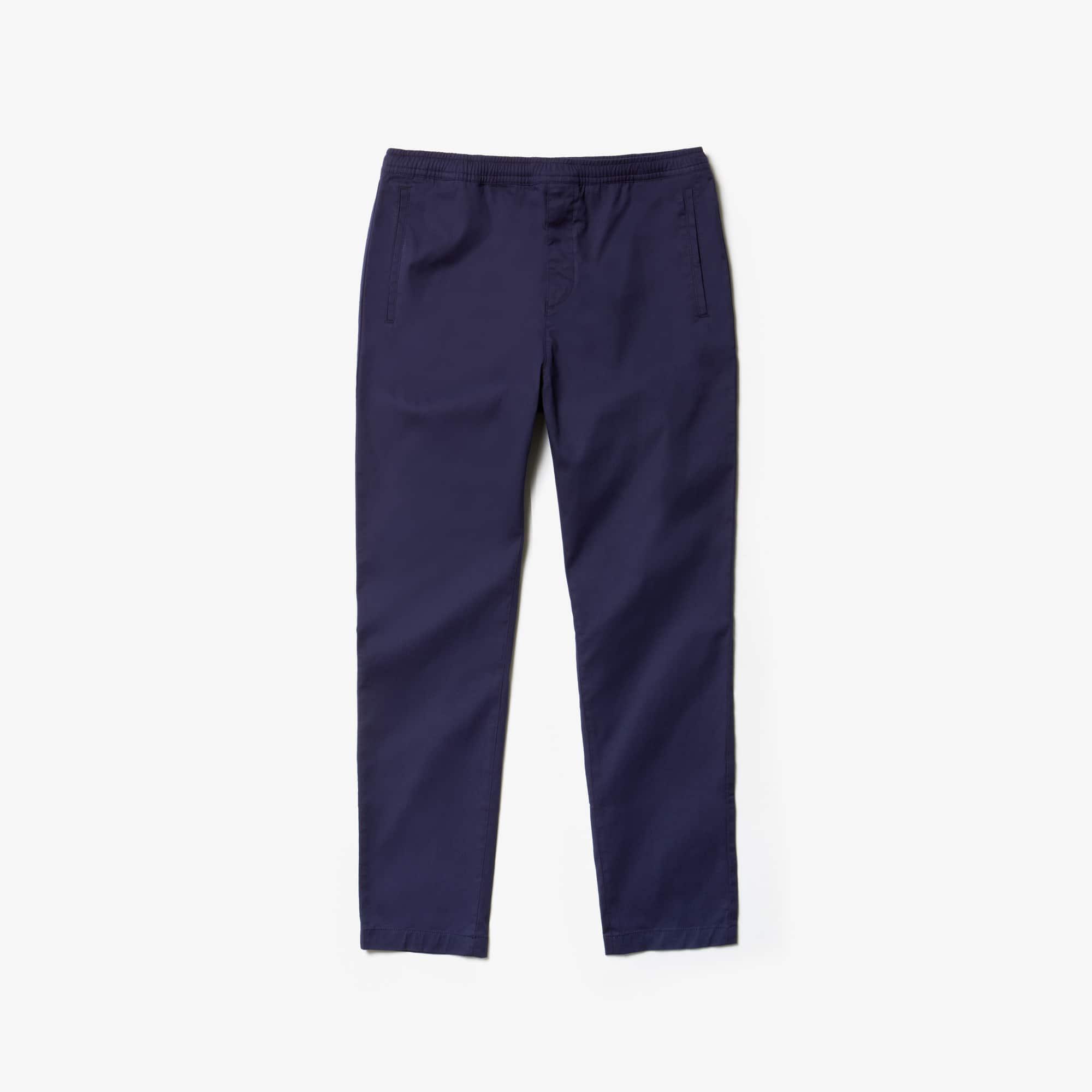 라코스테 Lacoste Mens Stretch Canvas Chinos,navy blue