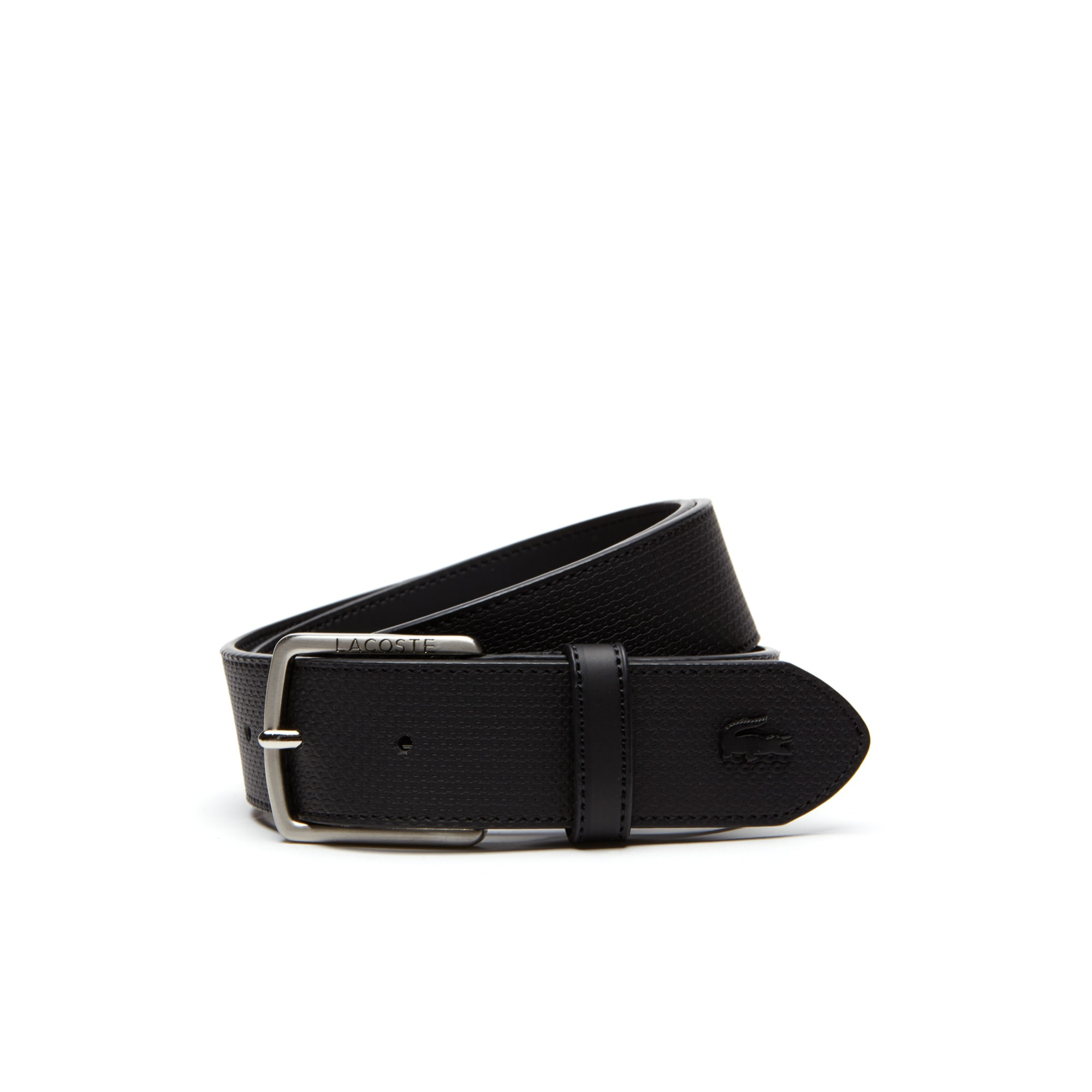 Men's Chantaco Piqué Leather Belt with Tongue Buckle