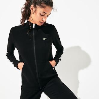 라코스테 우먼 스포츠 테니스 짚업 맨투맨 스웻셔츠 Lacoste Womens SPORT Side-Striped Logo Tape Zip Tennis Sweatshirt