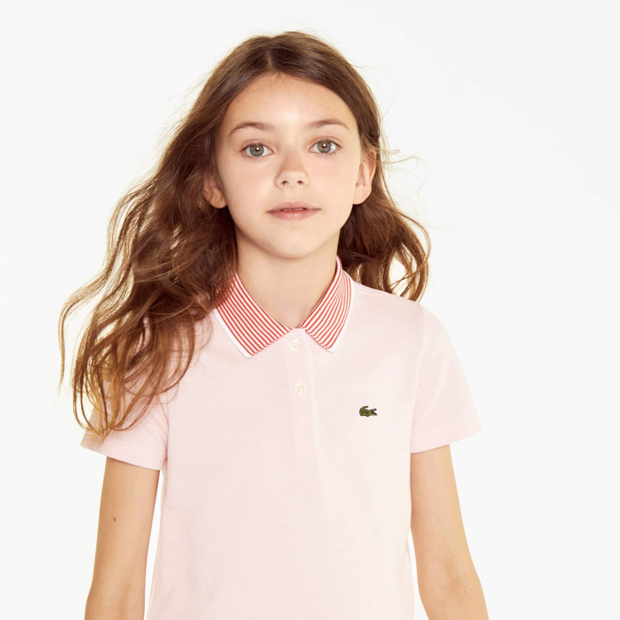 Girls' Lacoste Colorblock Petit Piqué Polo Shirt