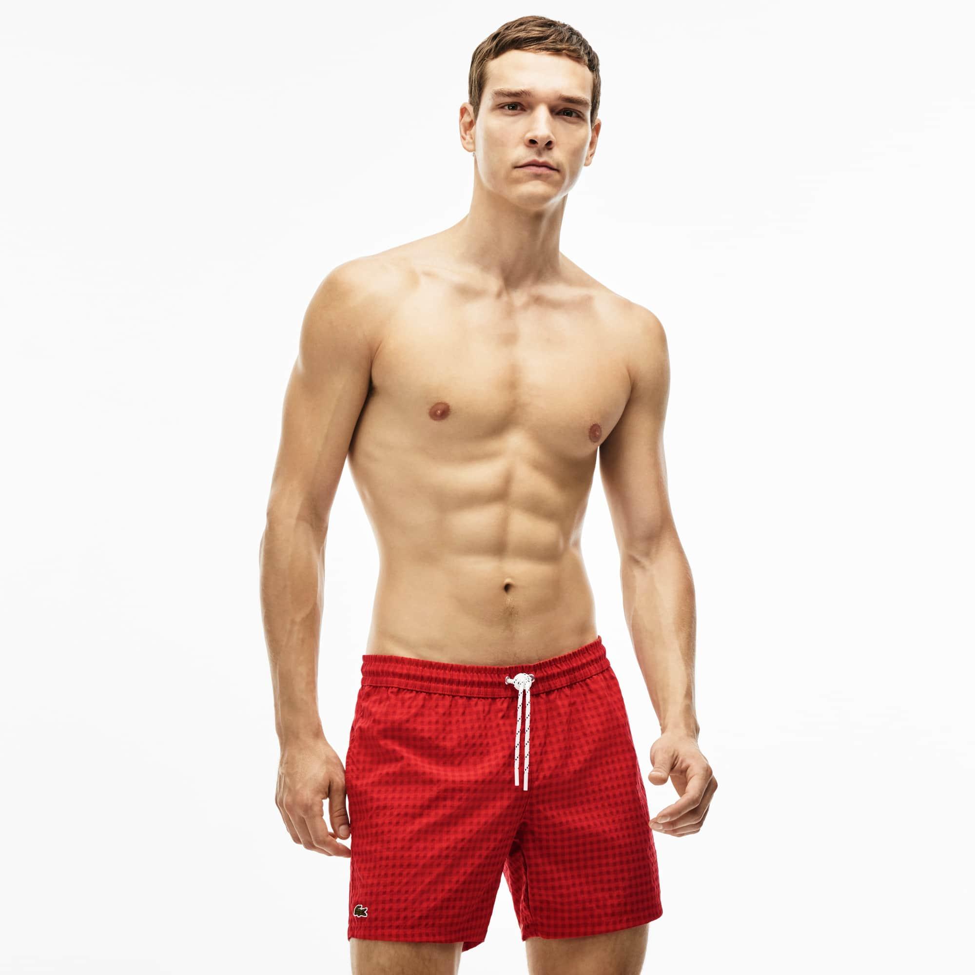 Men's Checked Swim Trunks