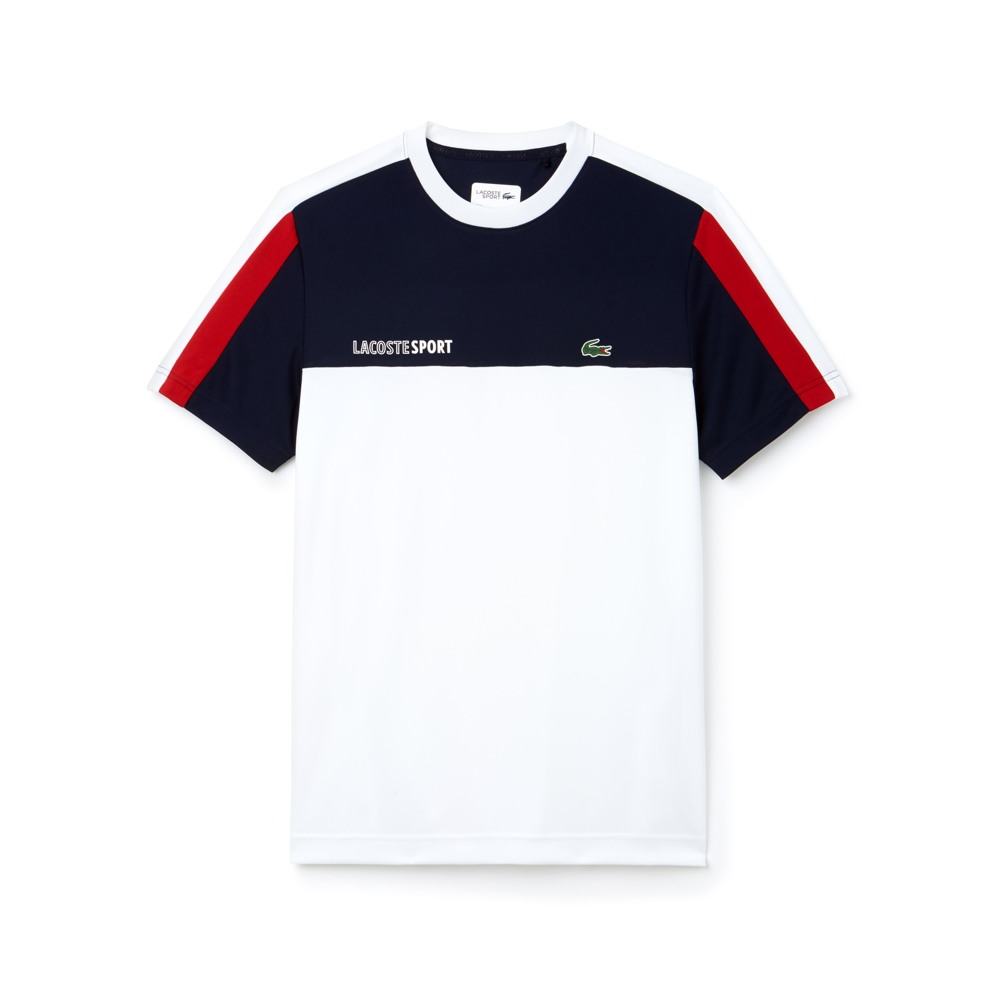 Shirt Lacoste T Sport Tennis Block Rond Col Color gIxxFpwd