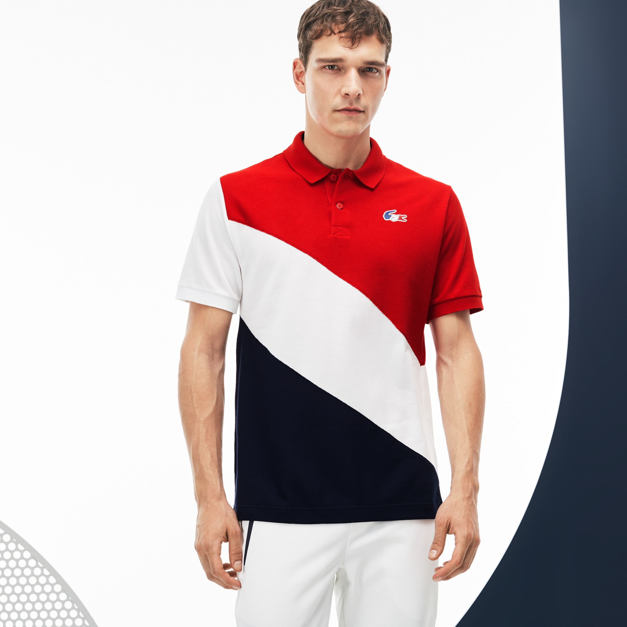 Men's French Sporting Spirit Edition Colorblock Petit Piqué Polo