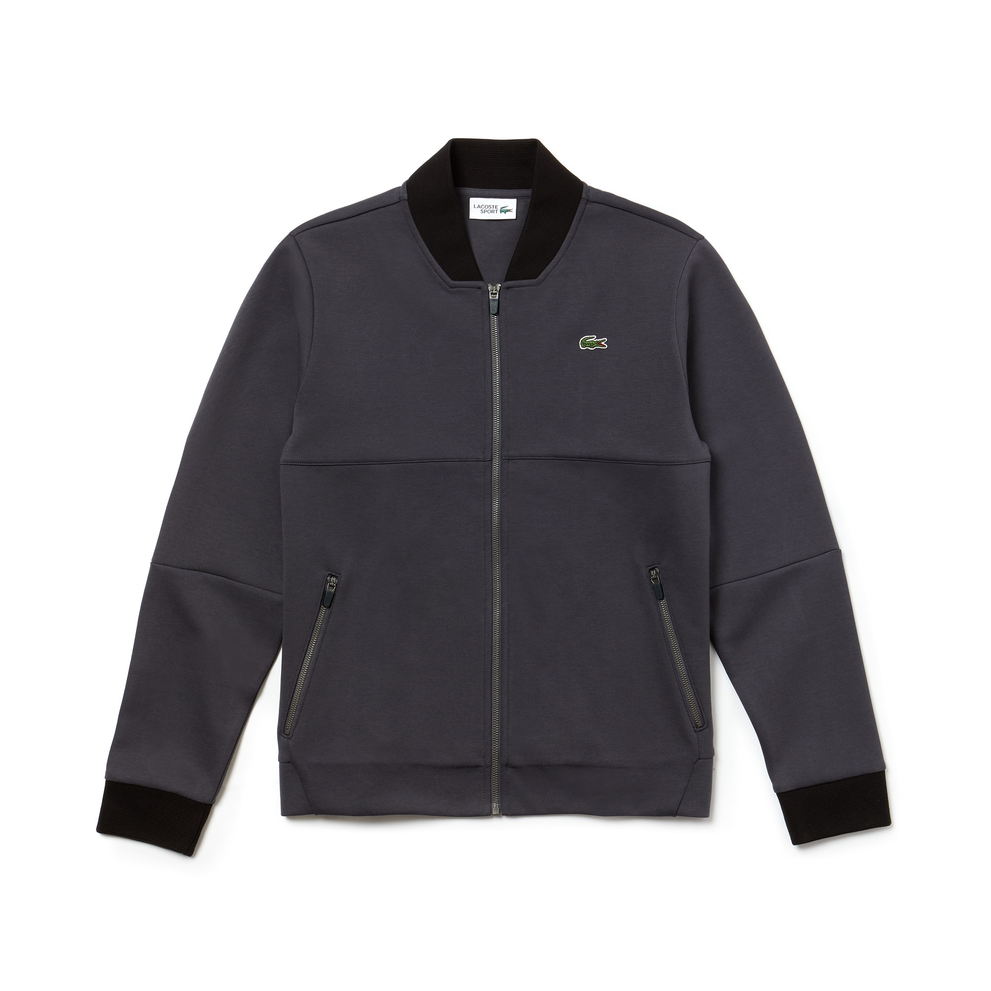 Men's SPORT Banana Neck Zippered Fleece Tennis Sweatshirt