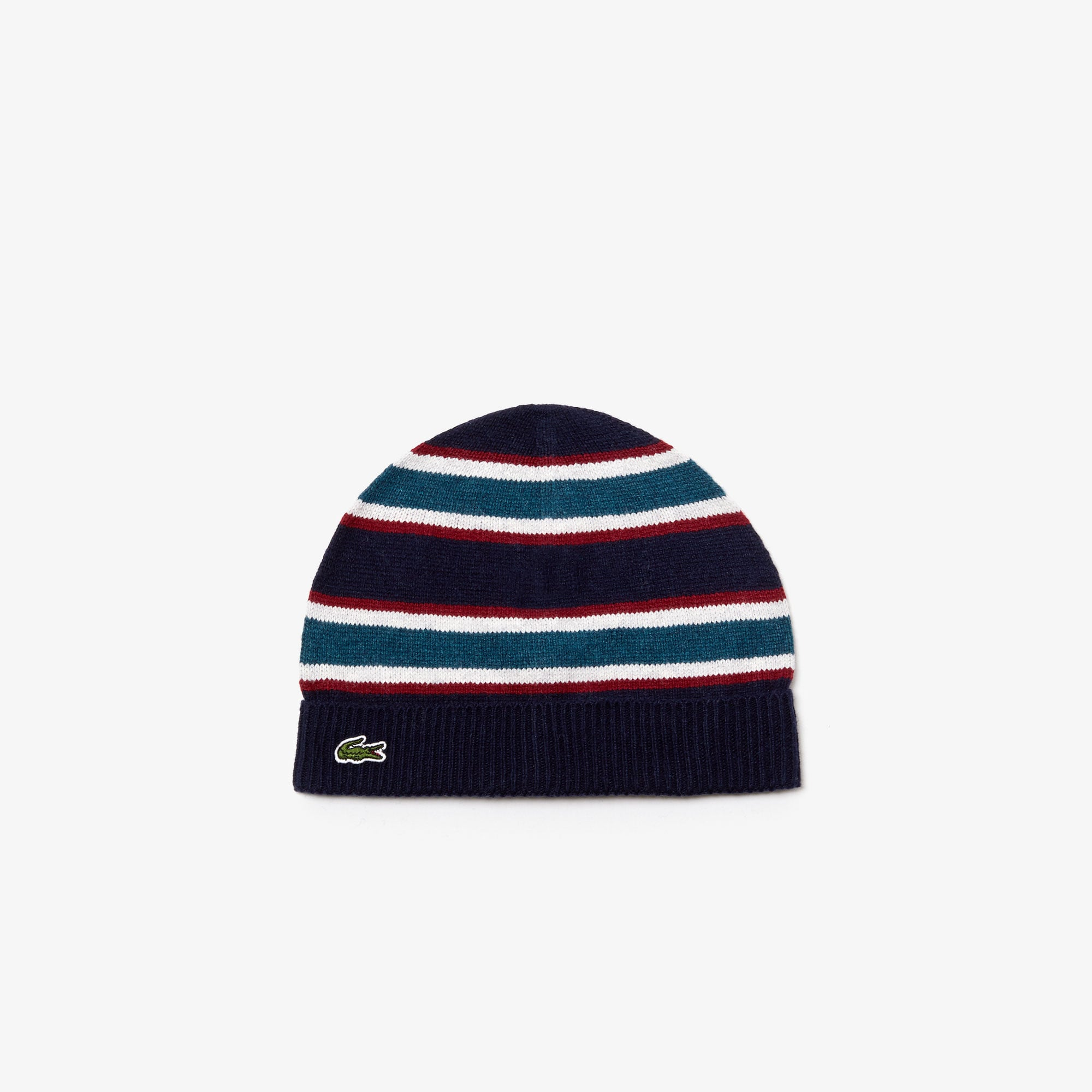 Boys' Striped Wool And Cotton Blend Beanie