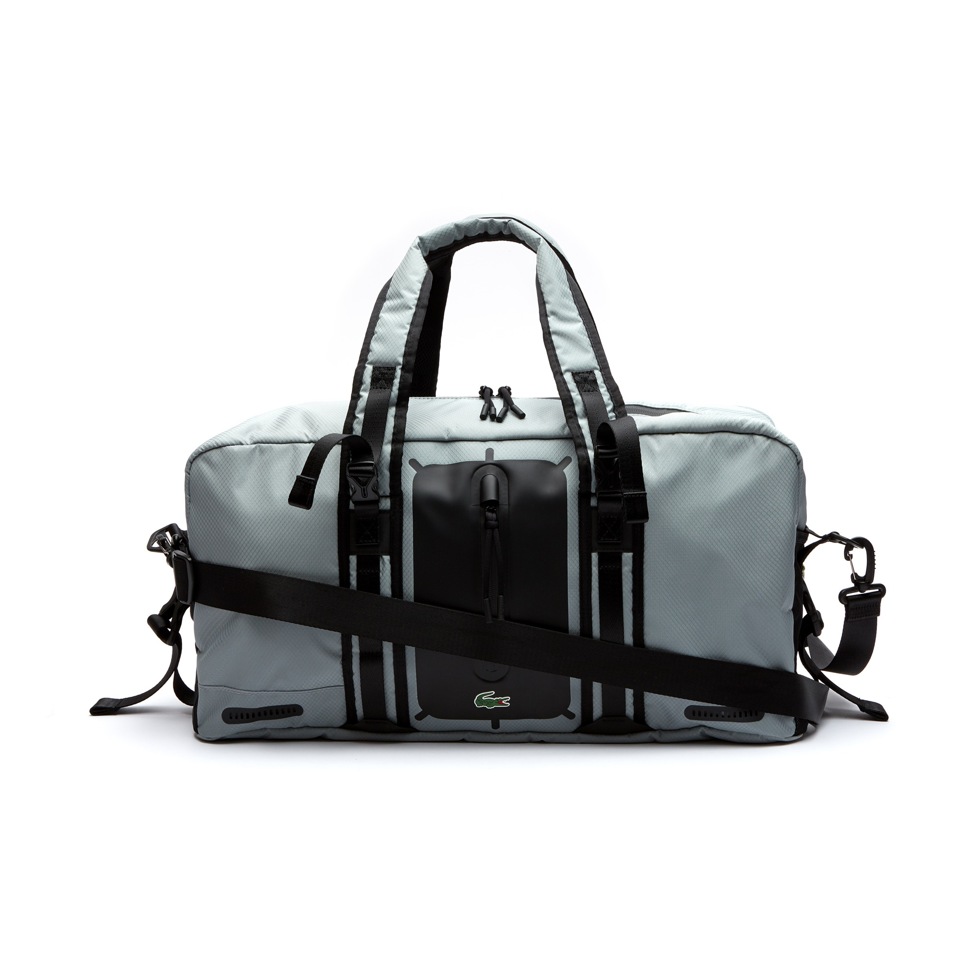 라코스테 스포츠 더플백 Mens Lacoste SPORT Match Point Nylon Roll Bag,HIGH-RISE BLACK