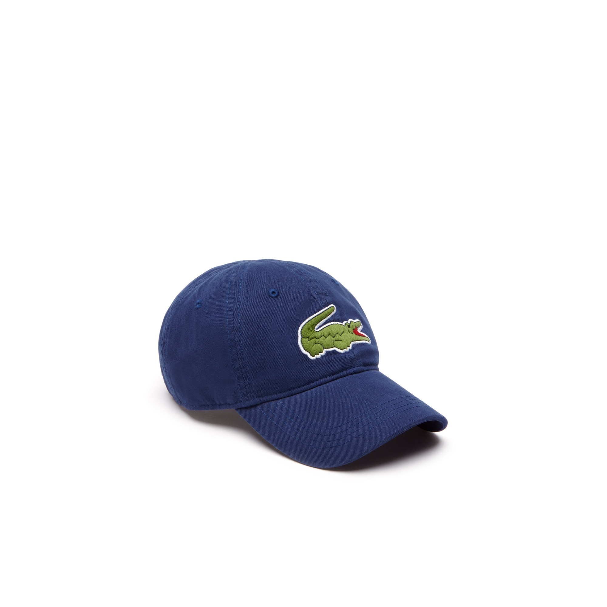 라코스테 Lacoste Mens Big Croc Gabardine Cap,navy blue