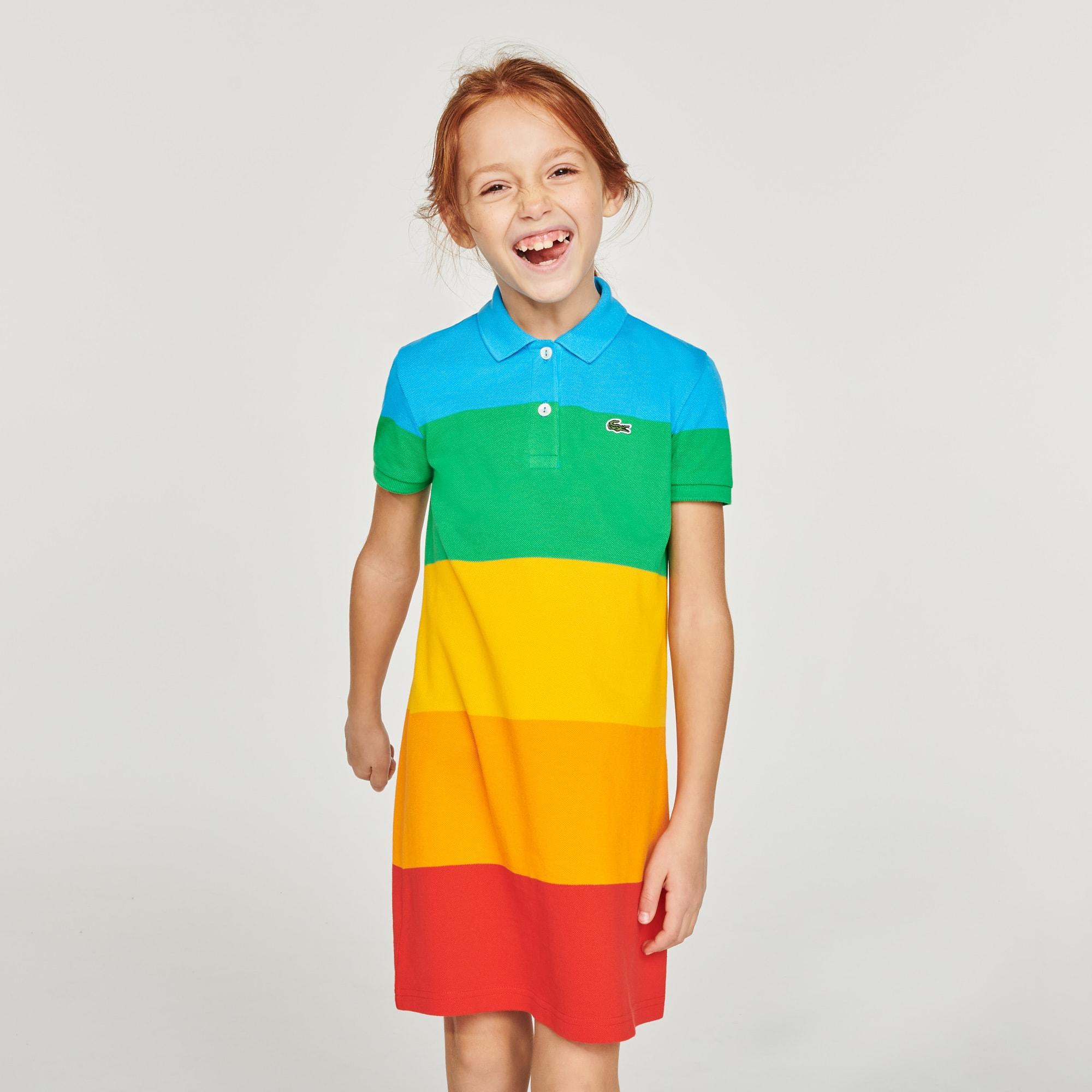 Girls' Polaroid Collaboration Striped Polo Dress