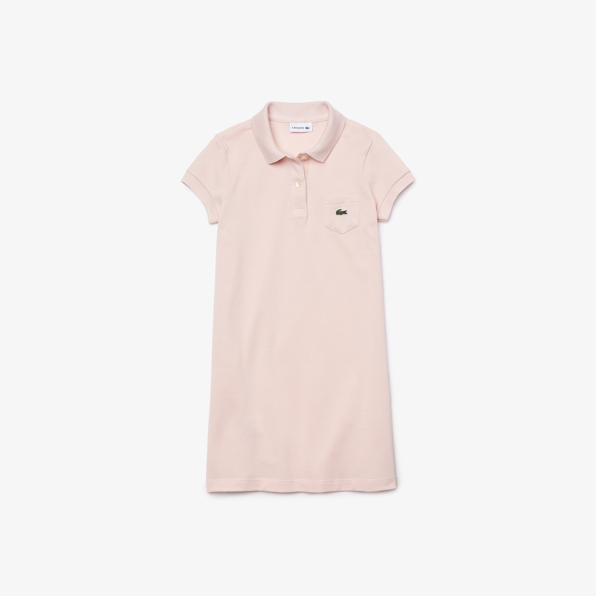 98a0161cdb Girl's Solid Petit Piqué Cotton Flared Dress | LACOSTE