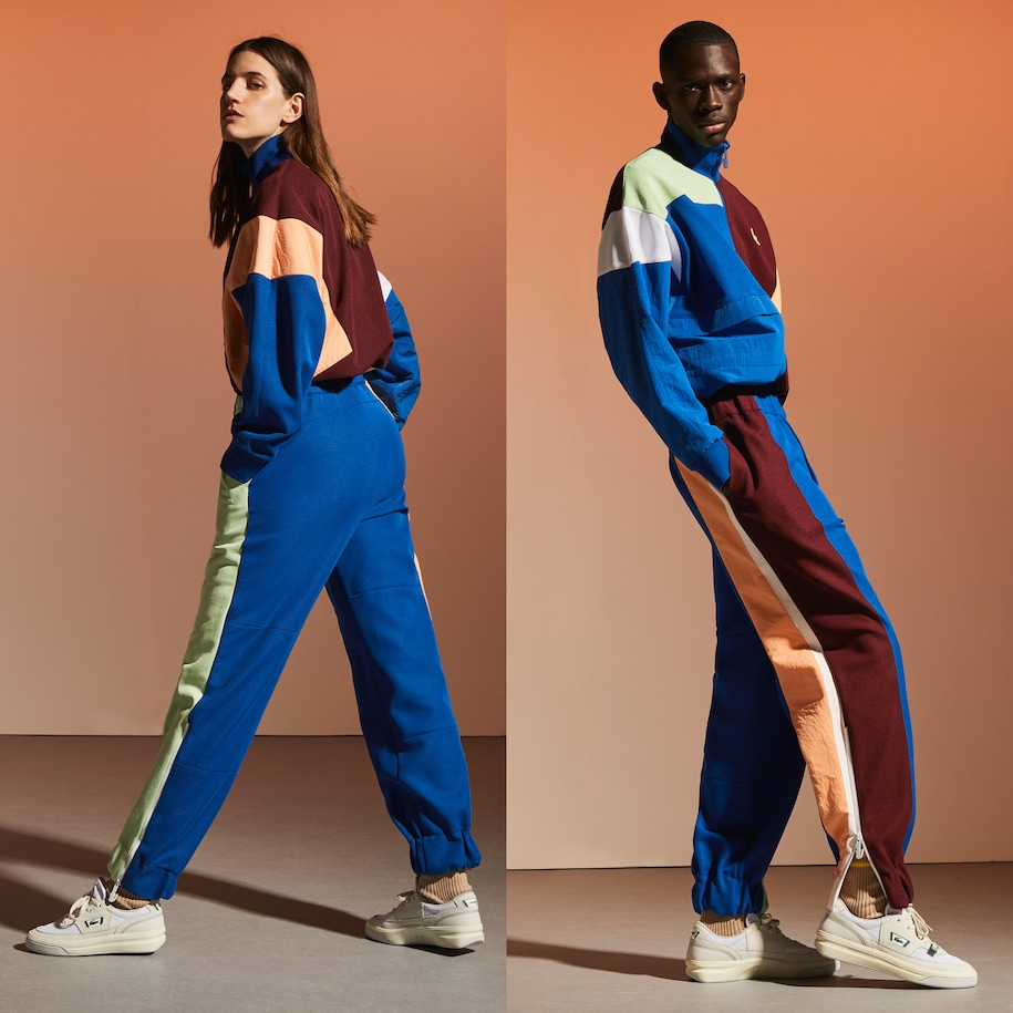 Unisex Fashion Show Edition Patchwork Style Jogging Pants