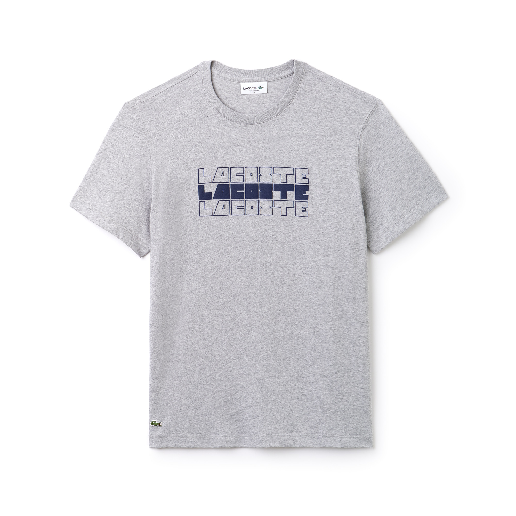 T-Shirt col rond avec marquage Lacoste
