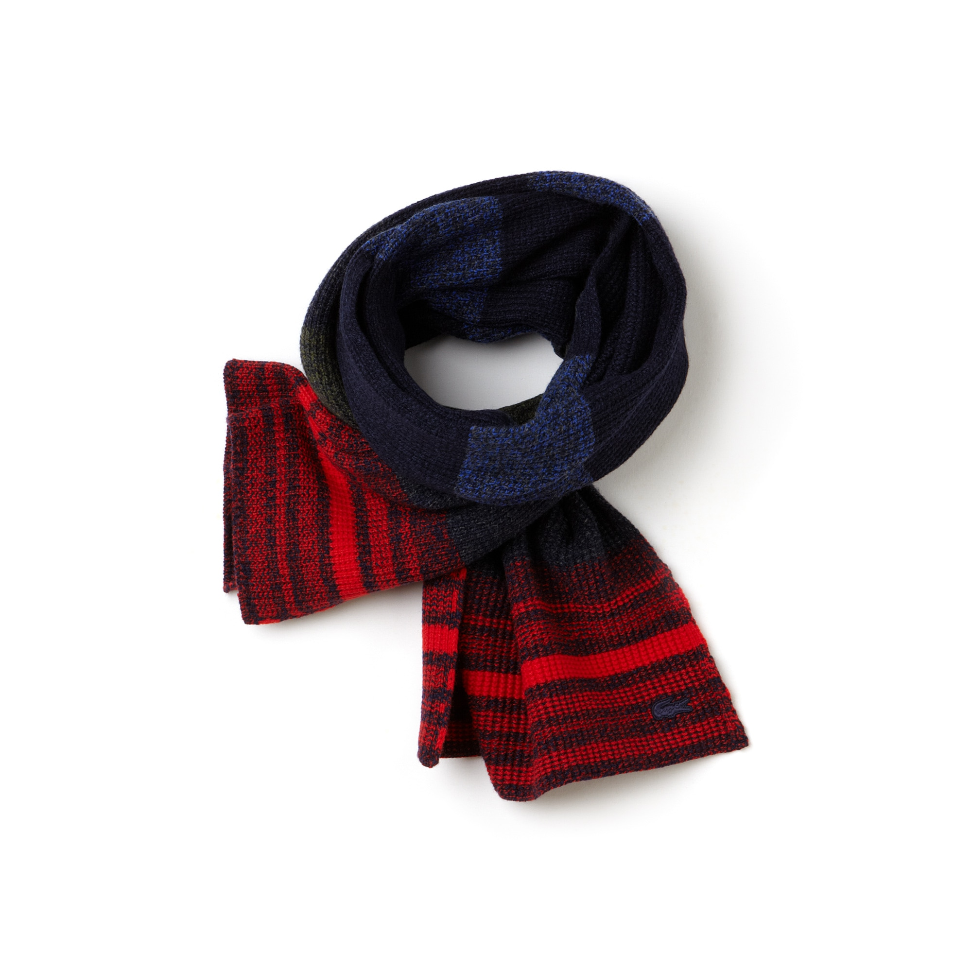 Women's Multicolored Striped Mouliné Jersey Scarf