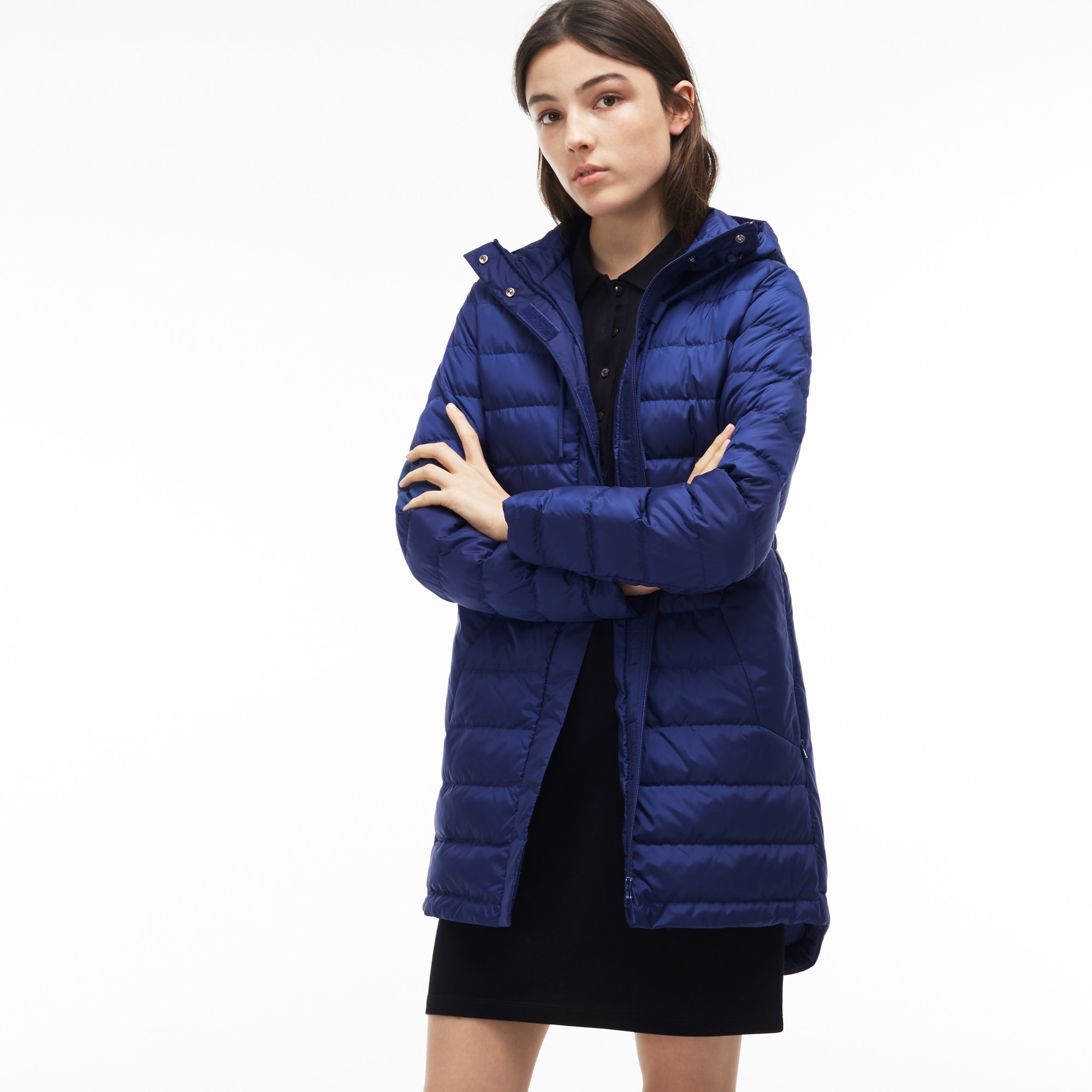 Women's Long Hooded Quilted Down Jacket