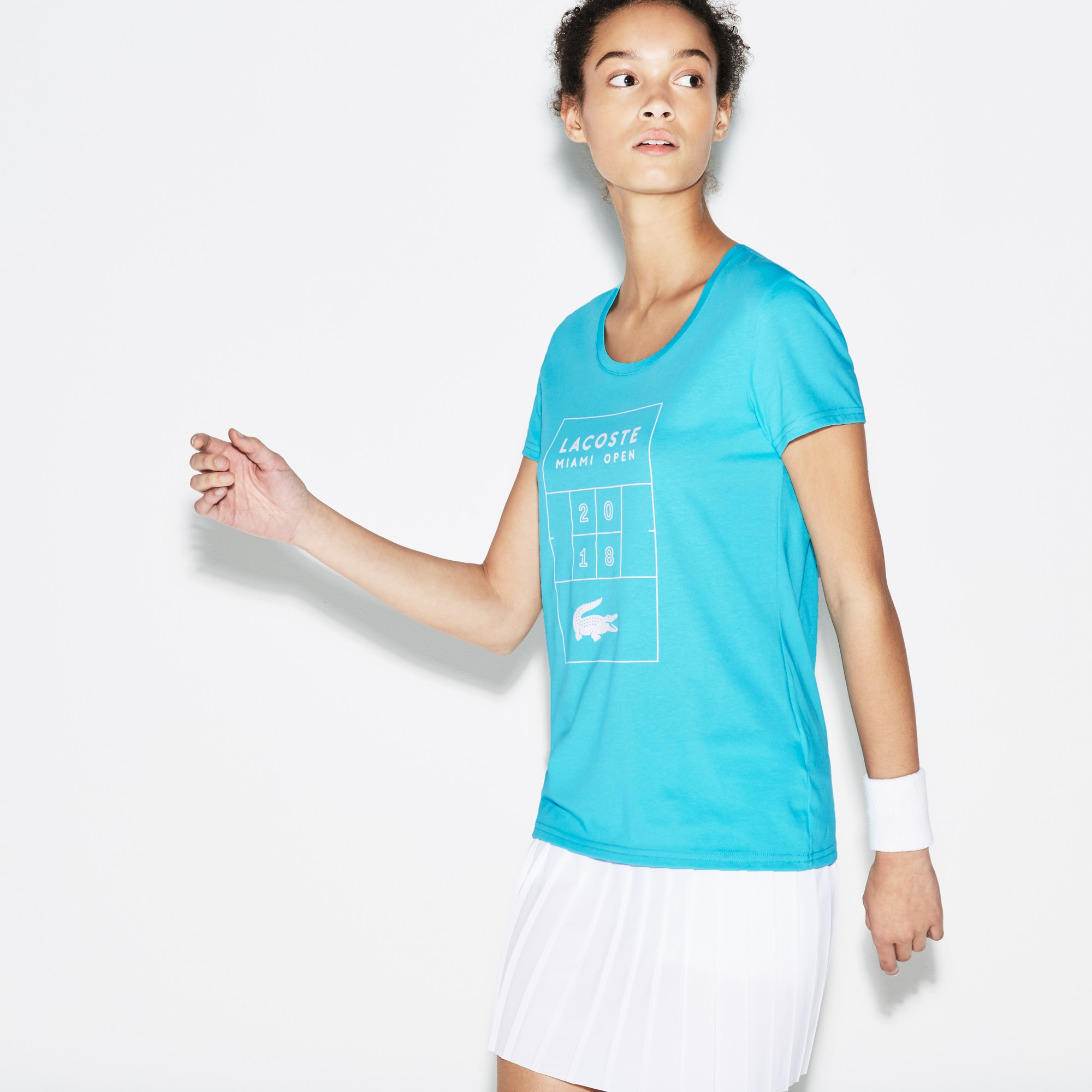 Women's SPORT Miami Open Print Tech Jersey Tennis T-shirt