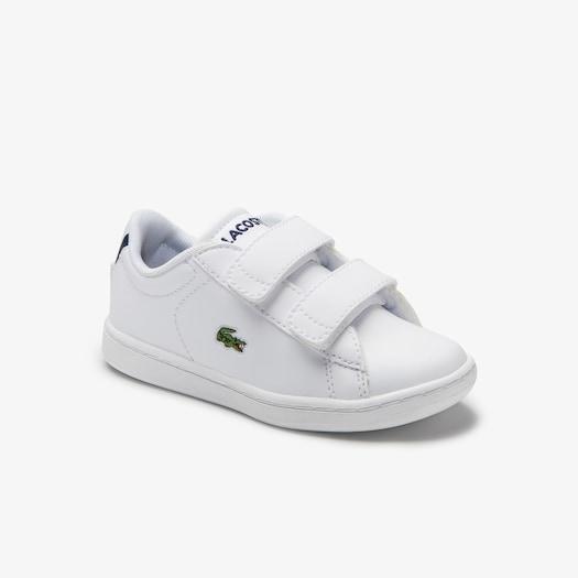 라코스테 밸크로 아동 운동화 Lacoste Infants Carnaby Evo Mesh-lined Tonal Synthetic Sneakers