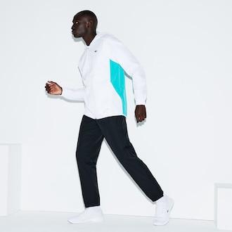 라코스테 스포츠 컬러블록 테니스 트랙 수트 Lacoste Mens SPORT Colorblock Taffeta Tennis Tracksuit,White / Green / Black