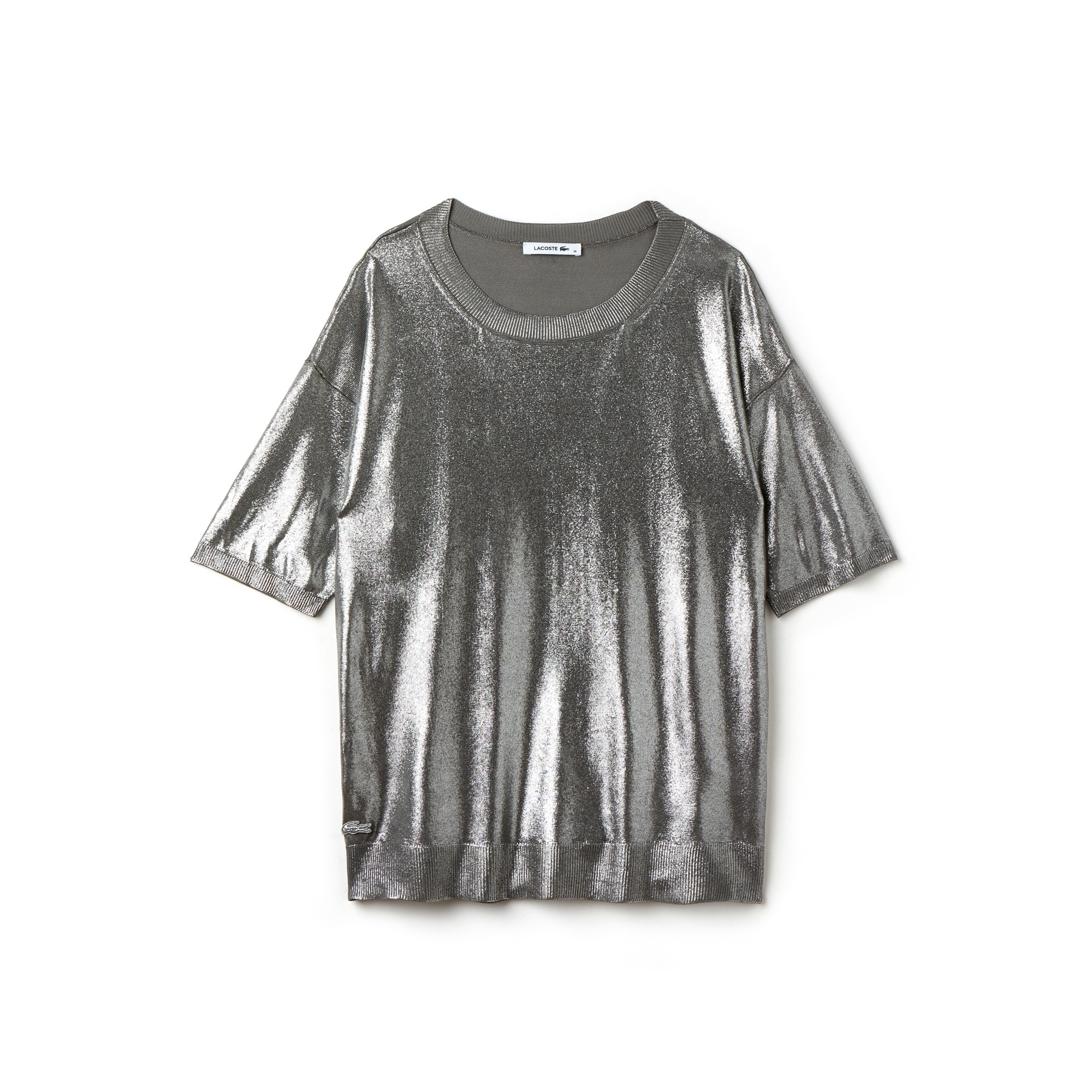 Women's Silver Jersey Flowing Top