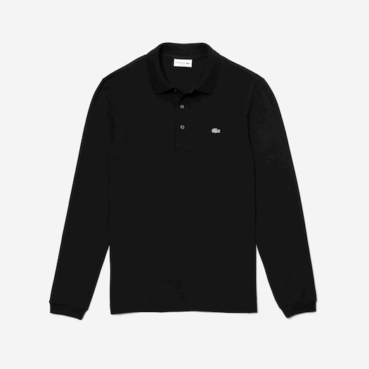 라코스테 Lacoste Mens Slim Fit Stretch Mini Pique Polo Shirt,Black - 031 (Selected colour)