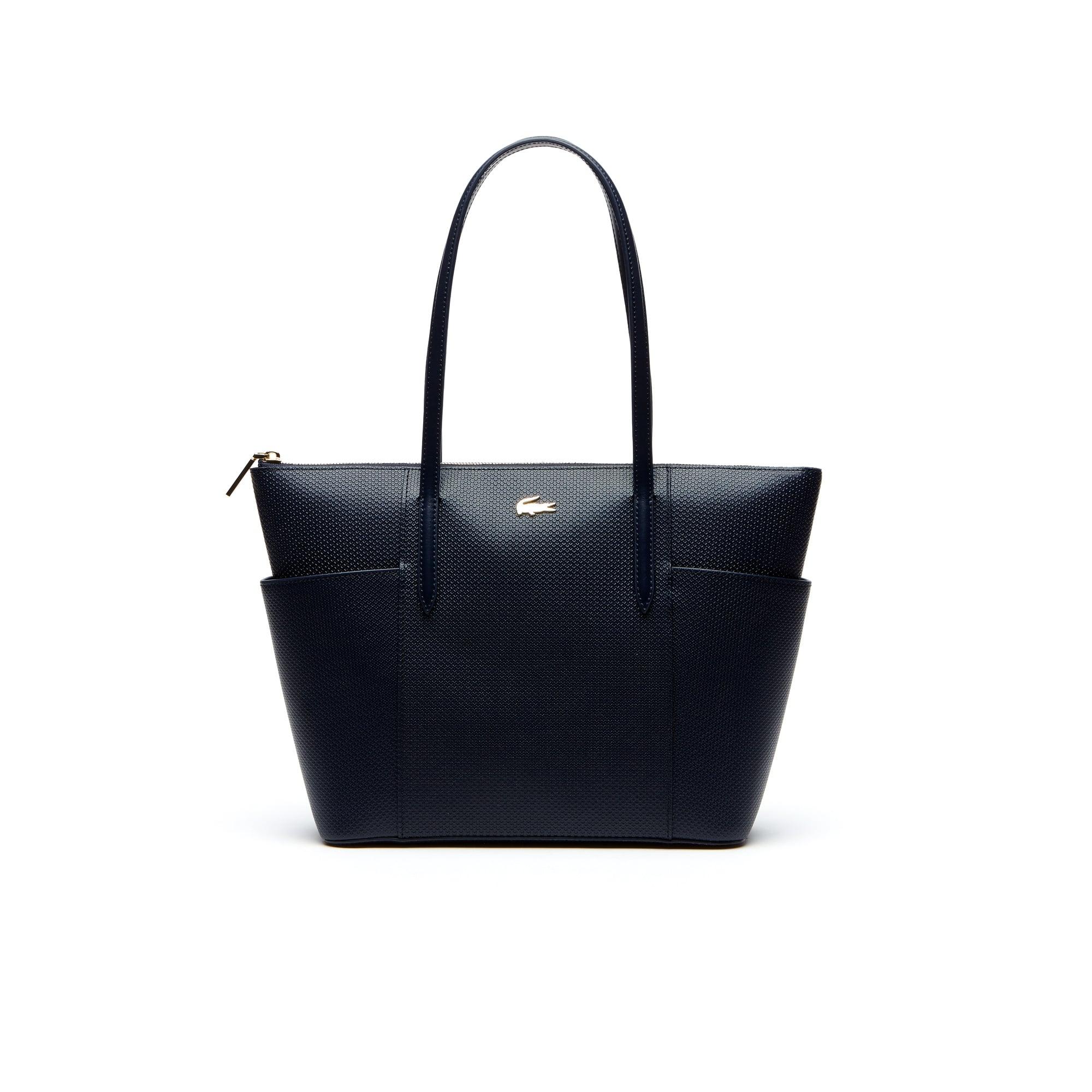 Women's Chantaco Piqué Leather Zip Pockets Tote Bag