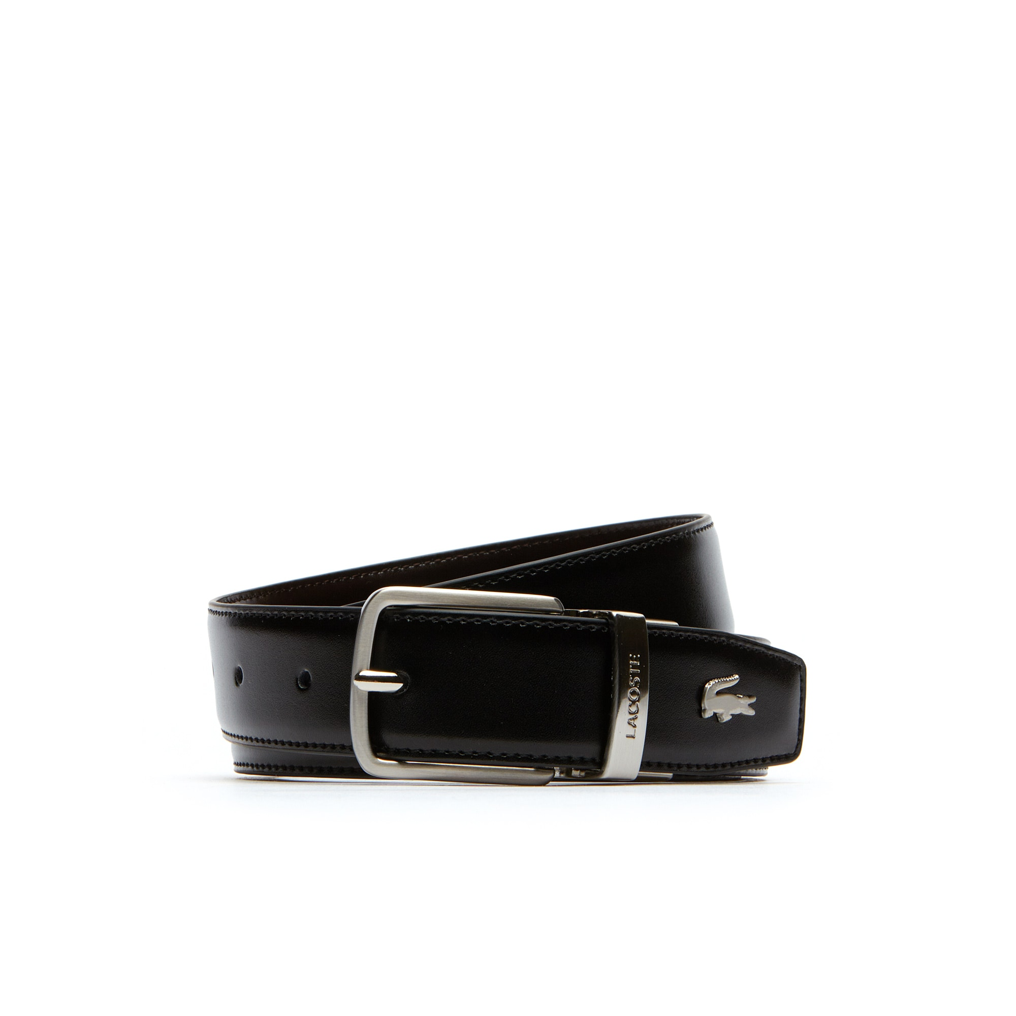 213fa20633 Men's Lacoste Engraved Tongue Buckle Reversible Leather Belt