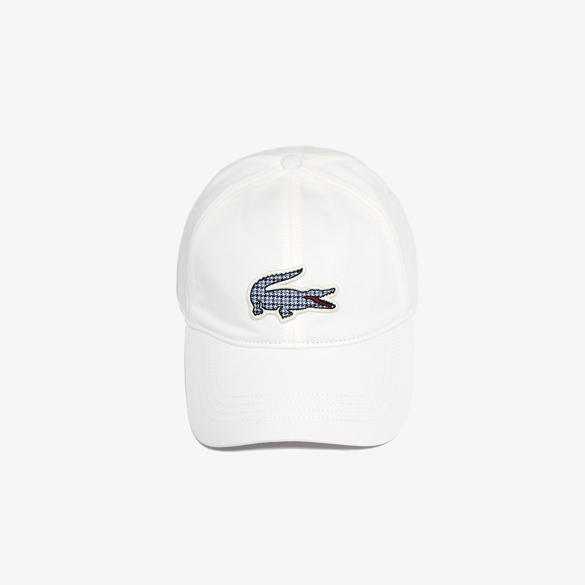 Men's Check Croc Badge Cotton Cap