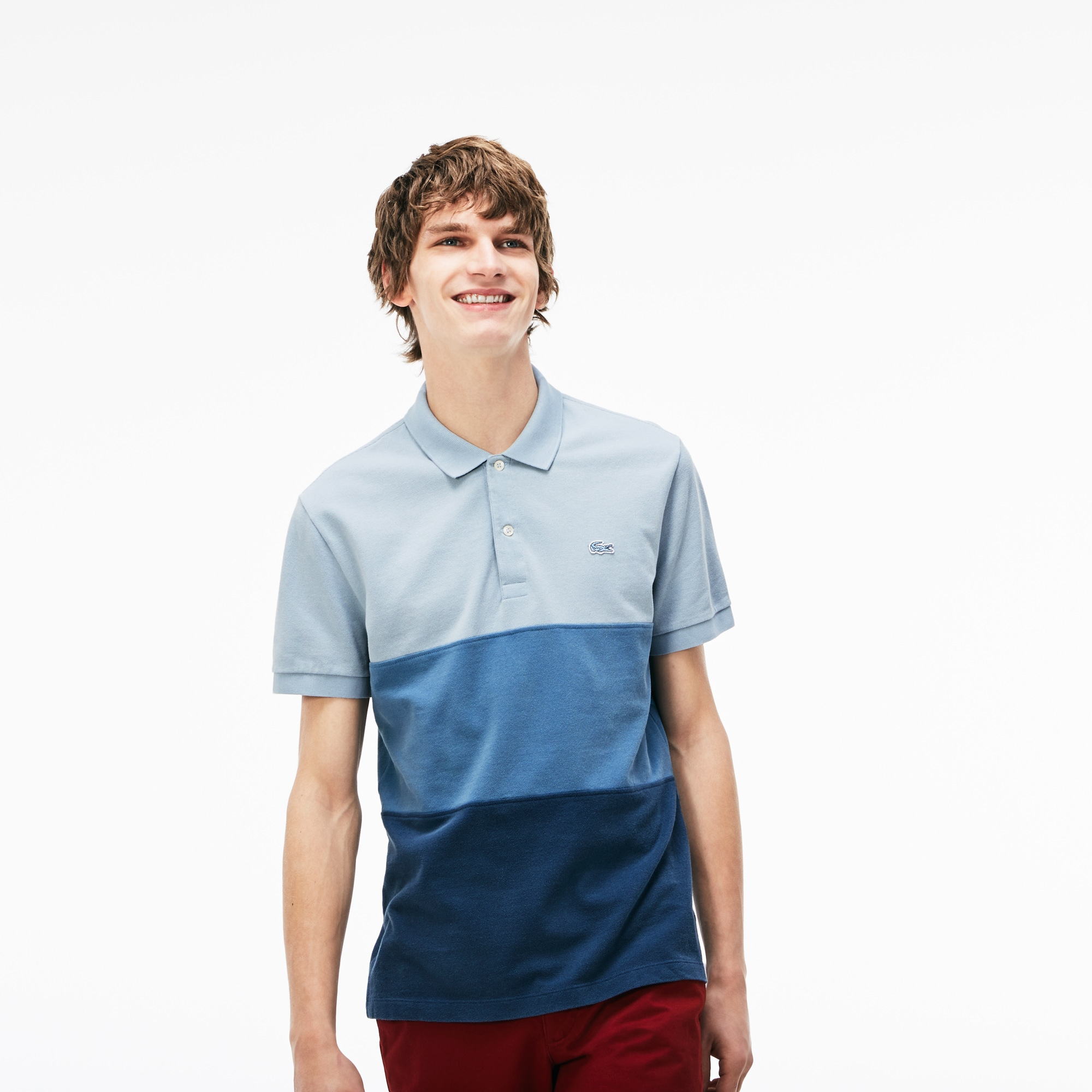 Men's Regular Fit Colorblock Petit Piqué Polo